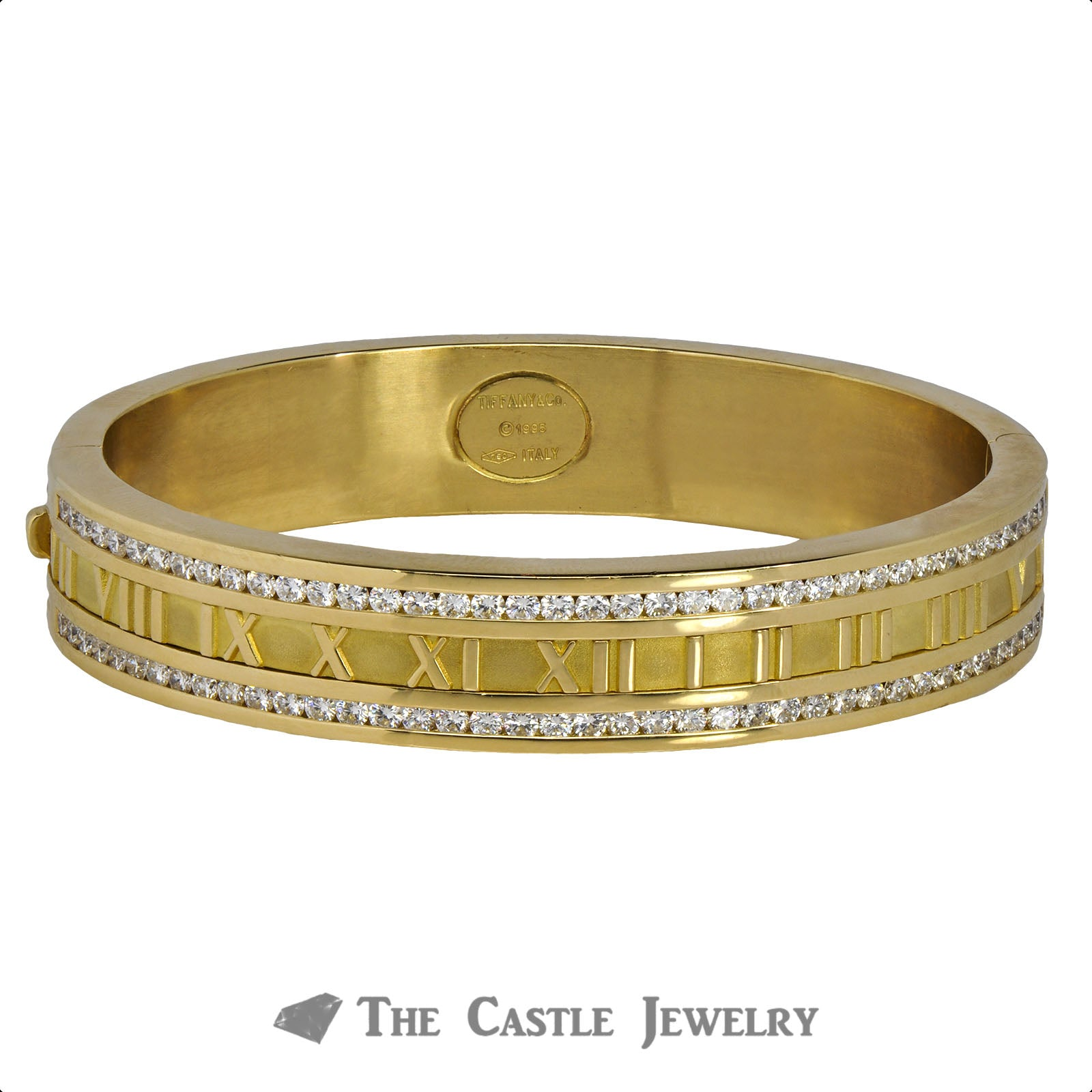 Tiffany & Co. Atlas Bangle Bracelet with Roman Numerals