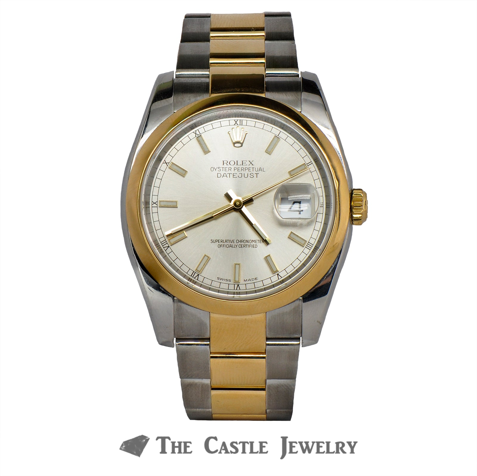Rolex Datejust 116203 with Silver Dial 18K/Steel Oyster Bracelet
