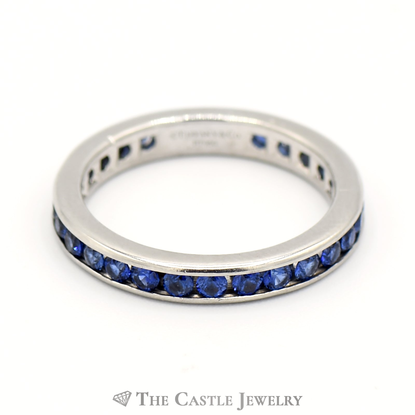 Tiffany & Company Platinum And Sapphire Eternity Band-0