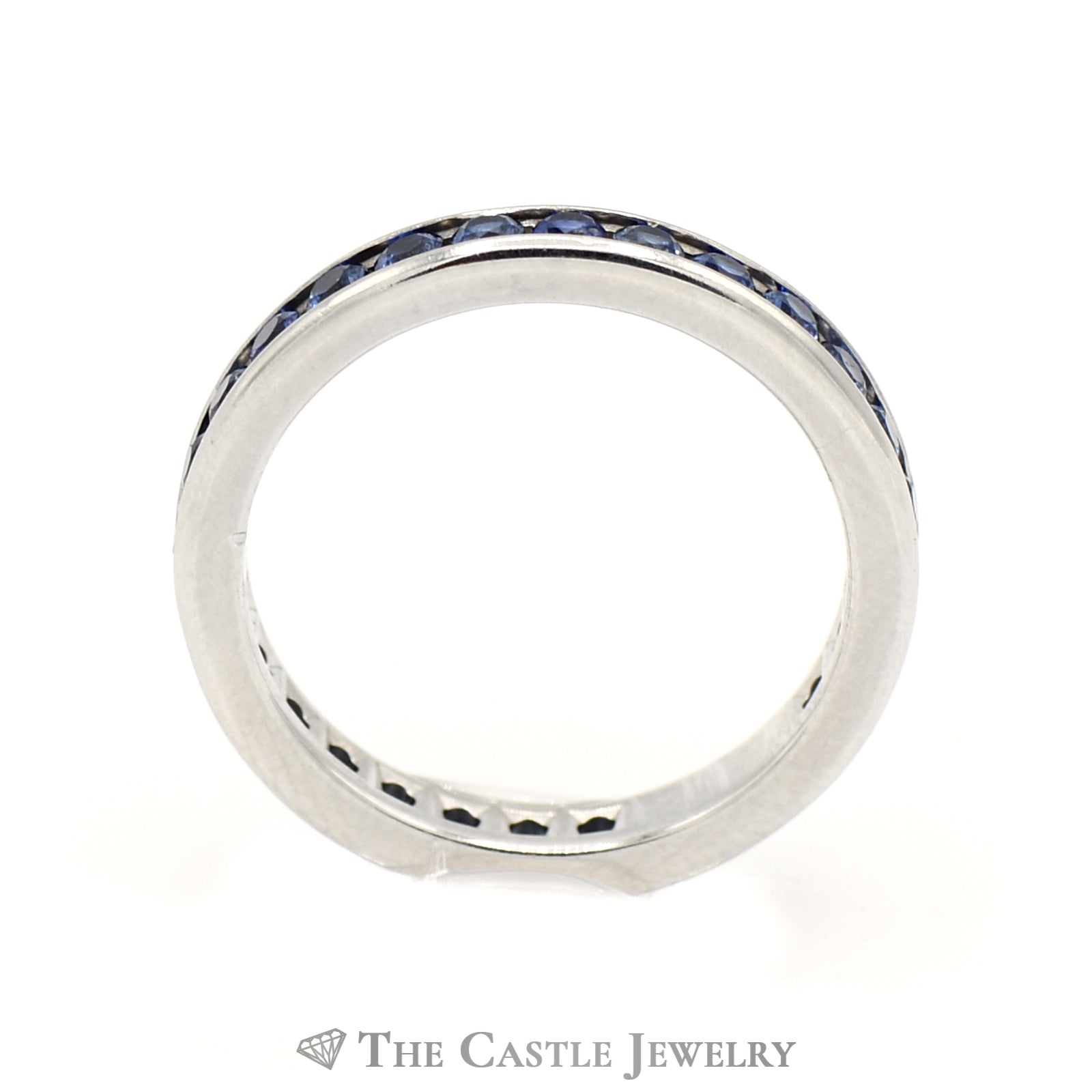 Tiffany & Company Platinum And Sapphire Eternity Band-1