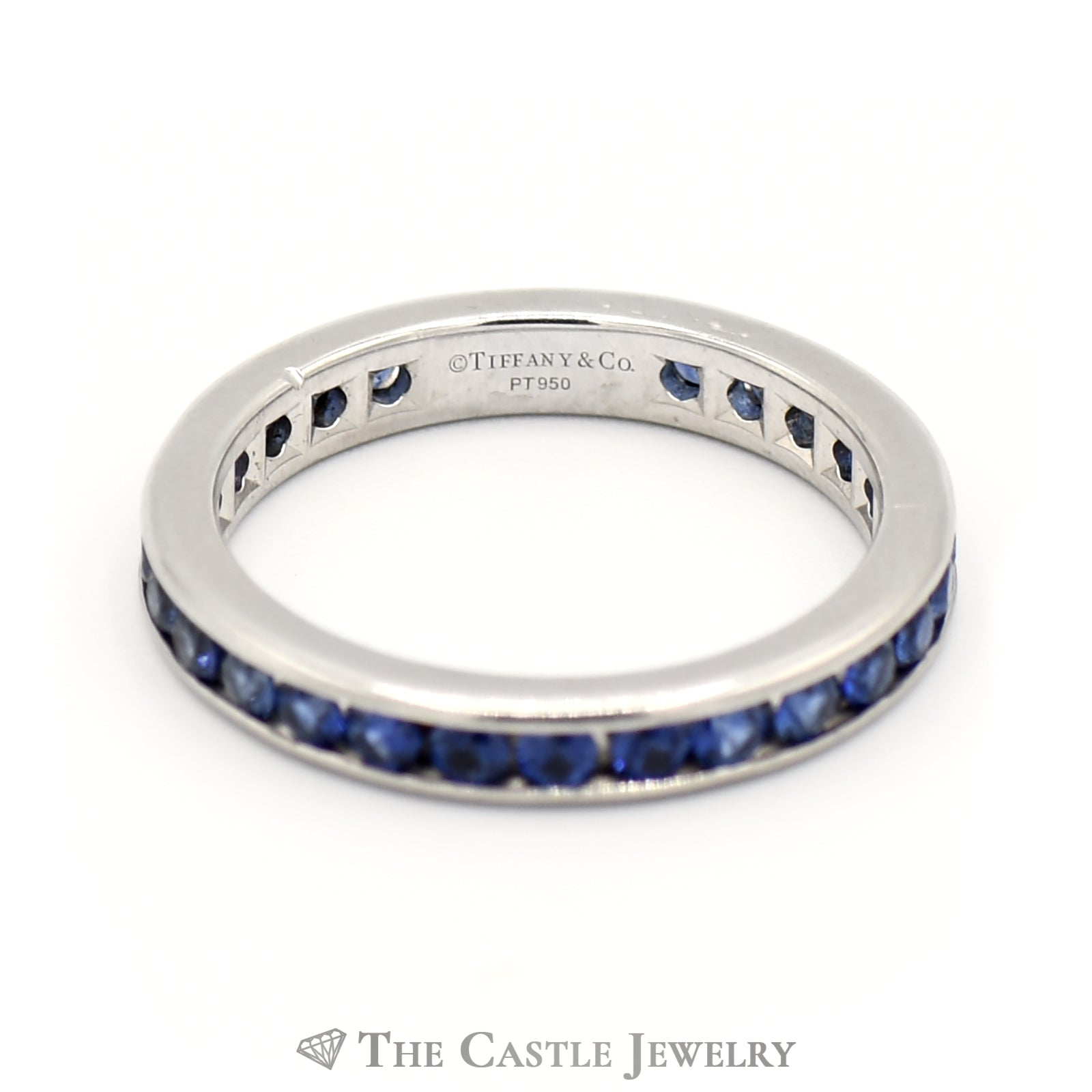 Tiffany & Company Platinum And Sapphire Eternity Band-2