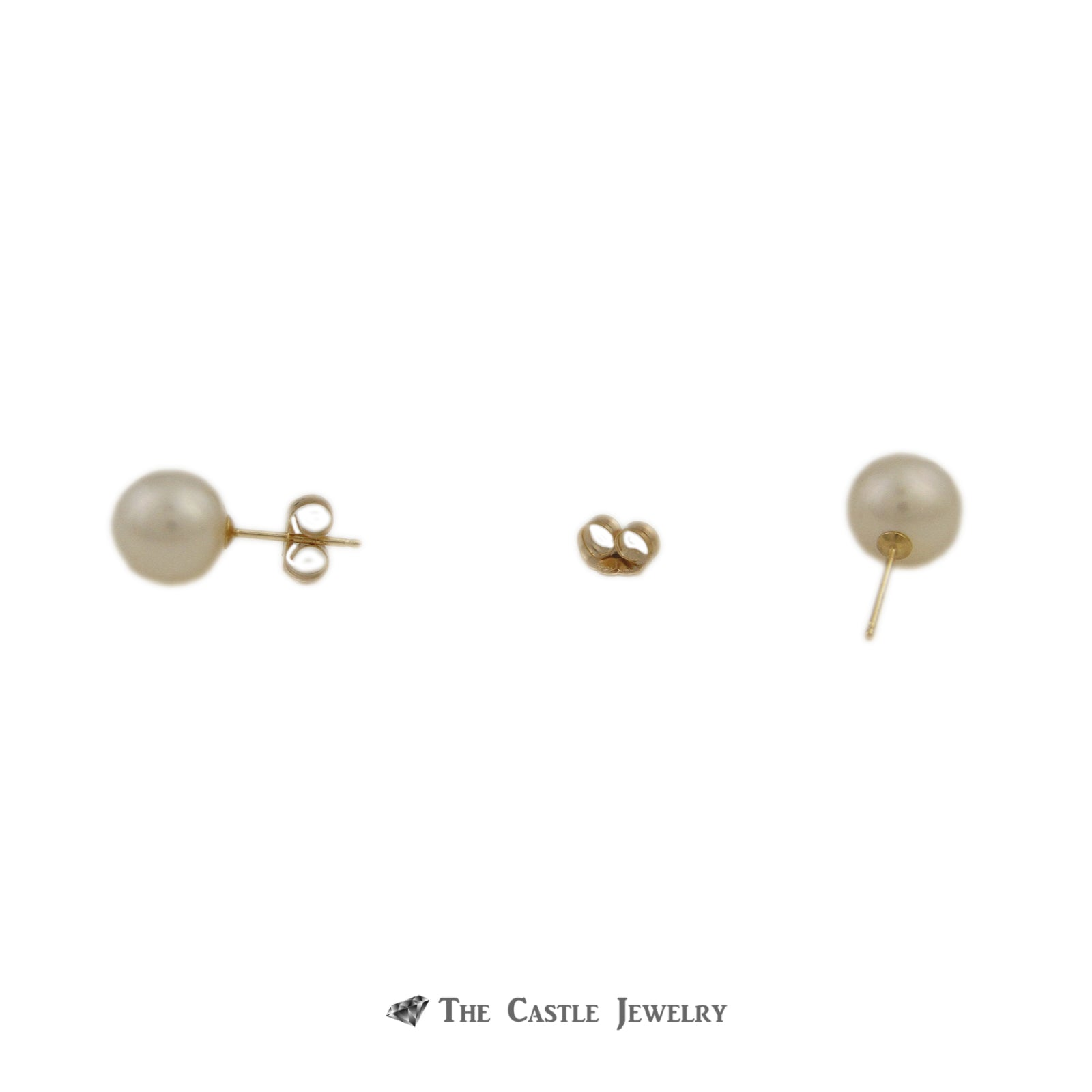 Pearl Earrings with 8-8.5mm Pearls in 14K Yellow Gold-1