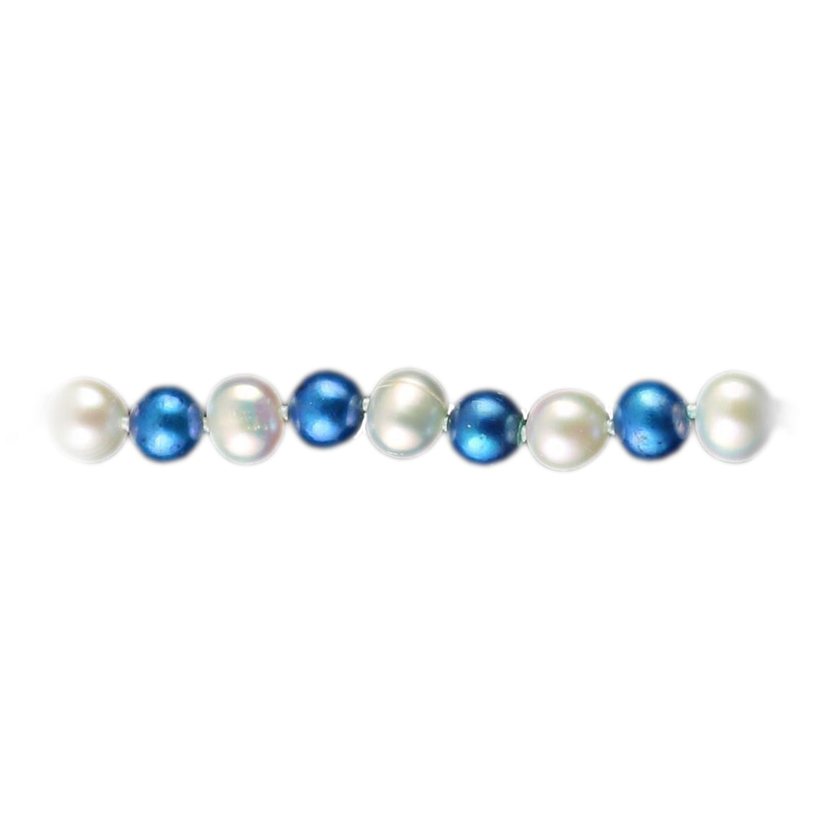 SPECIAL! Collegiate University of Kentucky Blue and White Pearl Necklace-1
