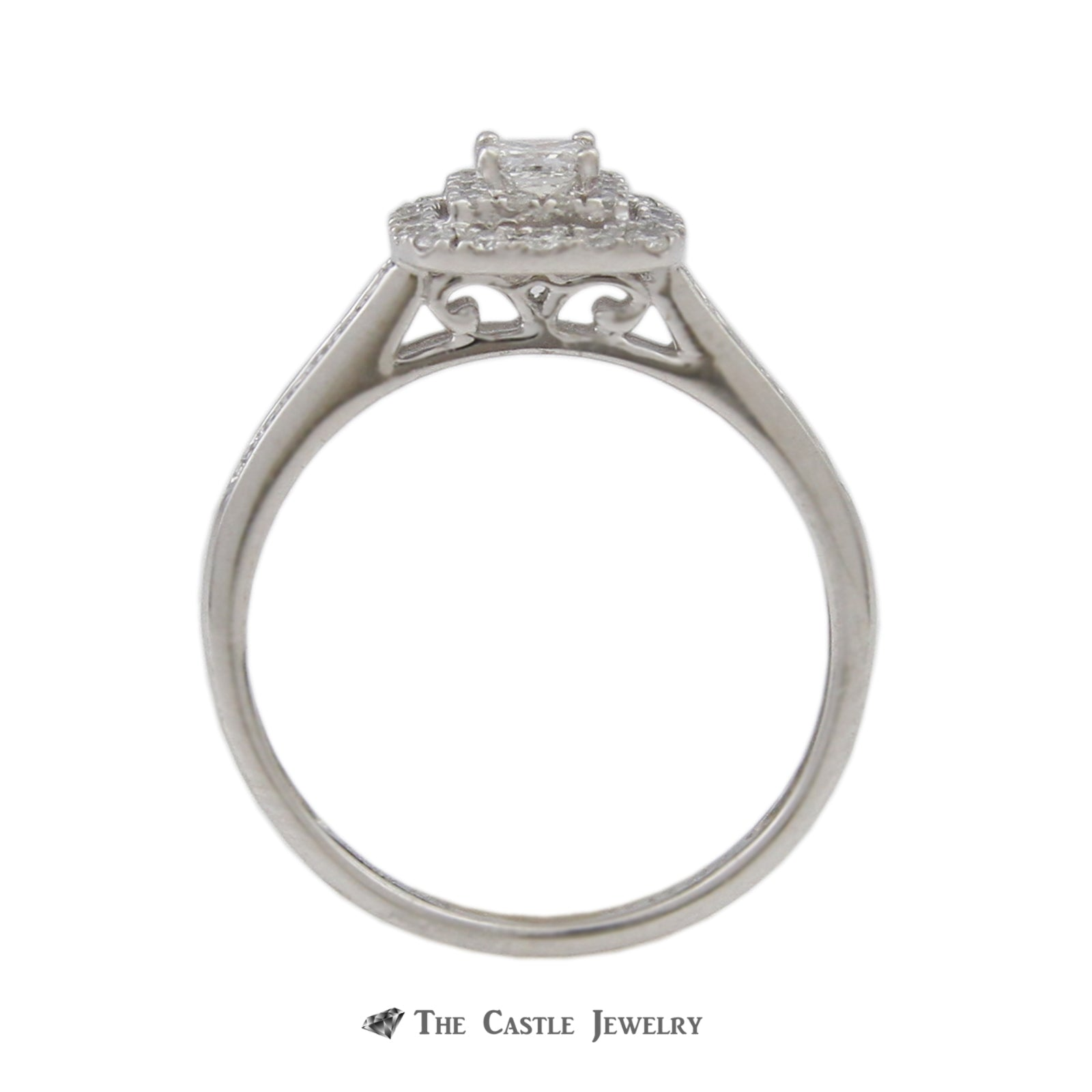 Crown Collection .50cttw Diamond Bridal Set with Double Halo in 14K Rose Gold-1