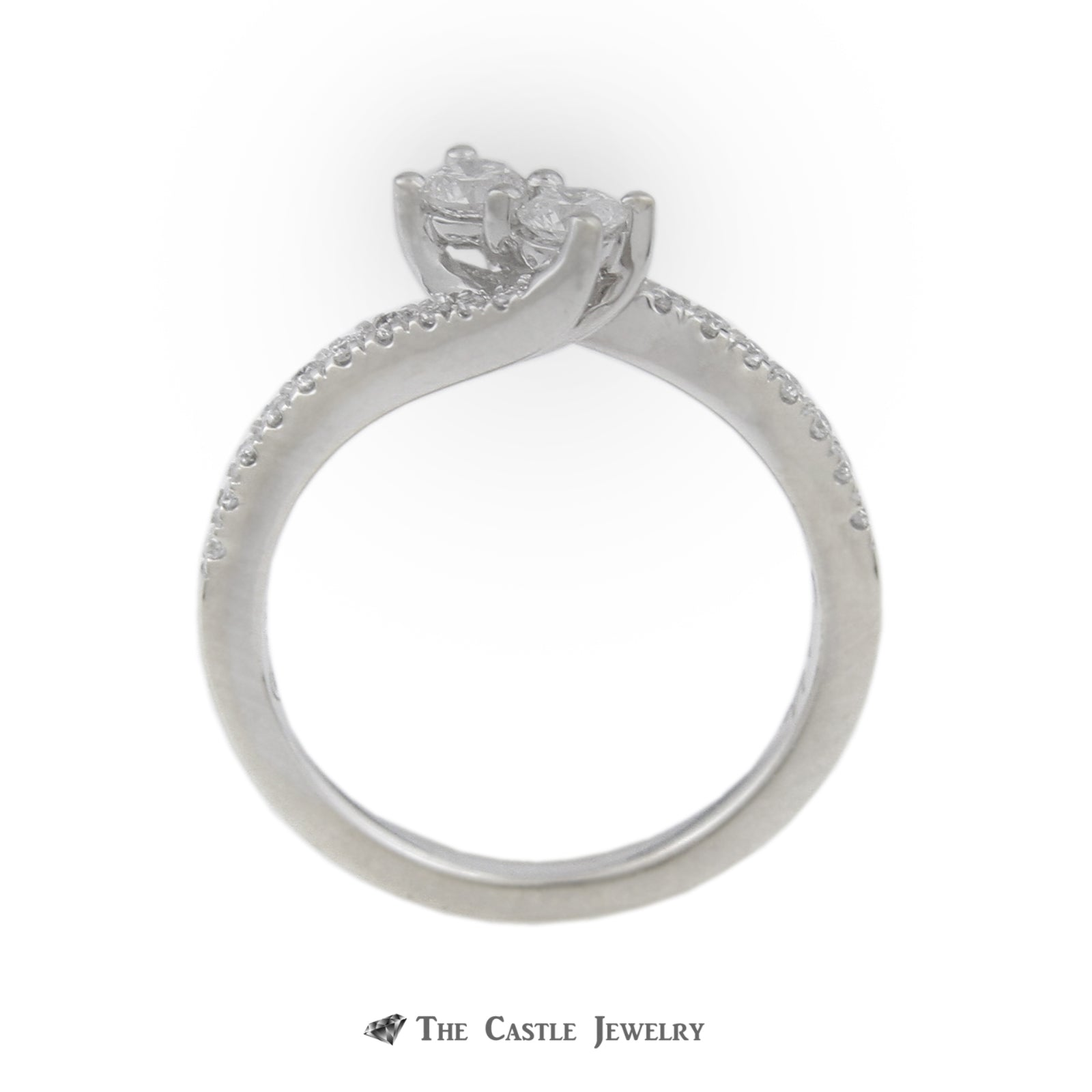Ever Us .50cttw Diamond Two Stone Ring with Round Brilliant Cut Diamond Sides-1
