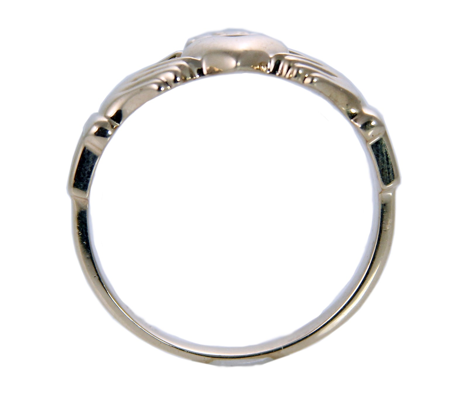 Irish Wedding Band Claddagh Ring in 14K Gold-1