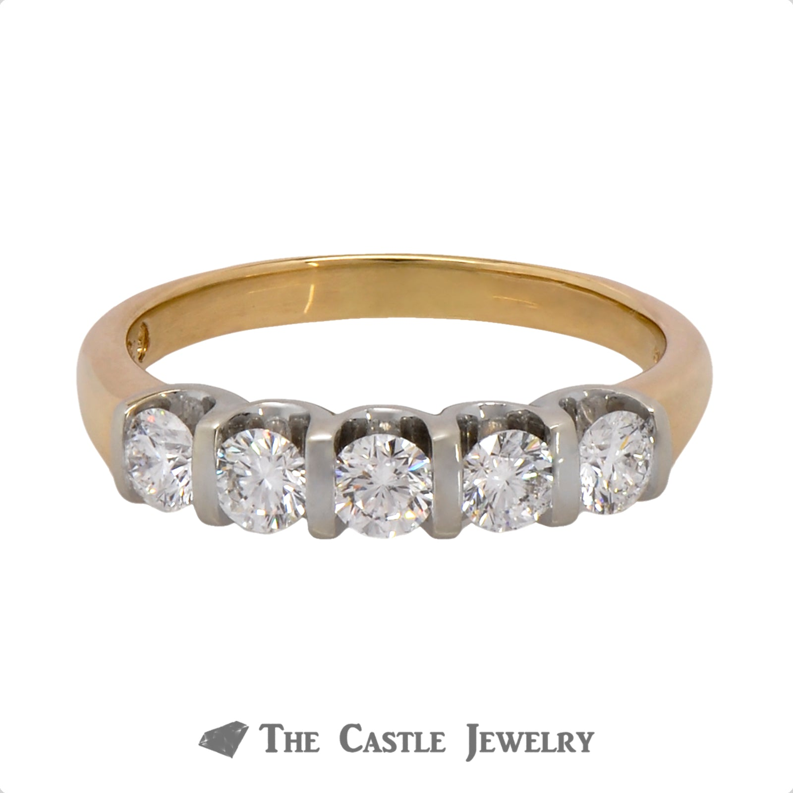 The Leo Designer Diamond Band in 14k Yellow Gold