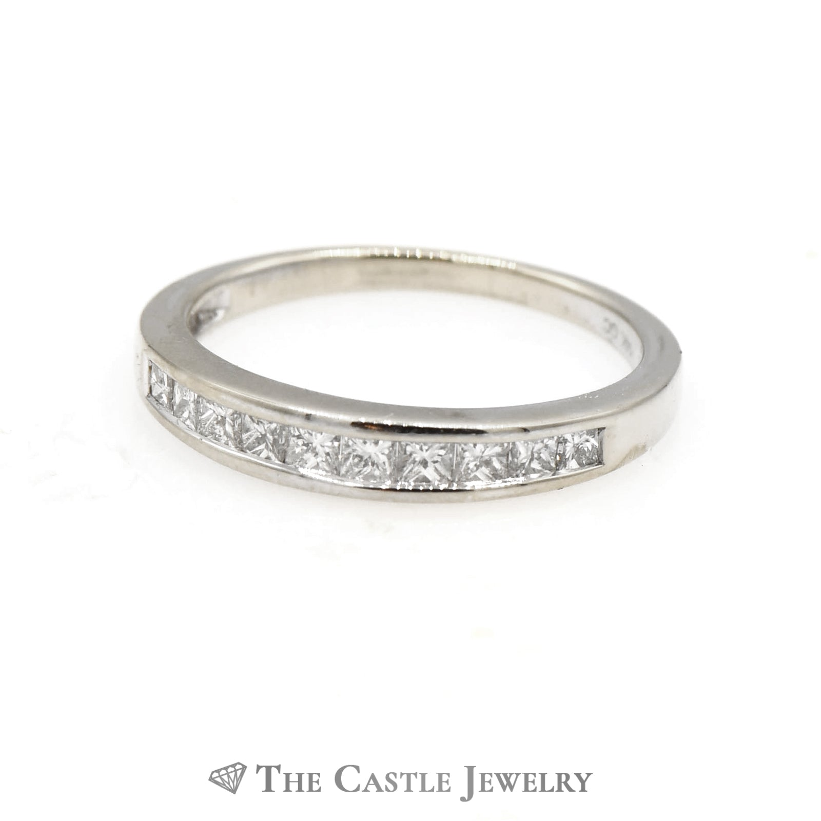 1/2cttw Princess Cut Diamond Wedding Band in 14k White Gold