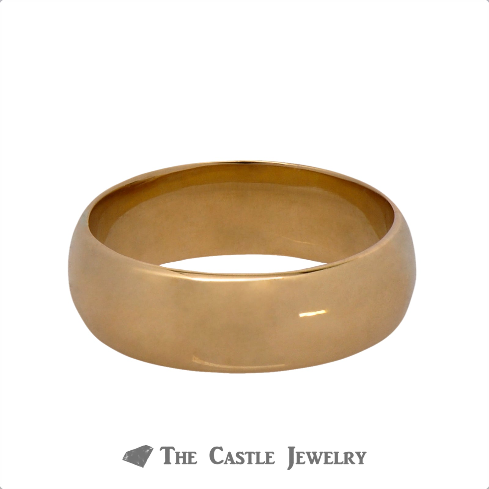 18k Yellow Gold 5.75mm Polished Wedding Band