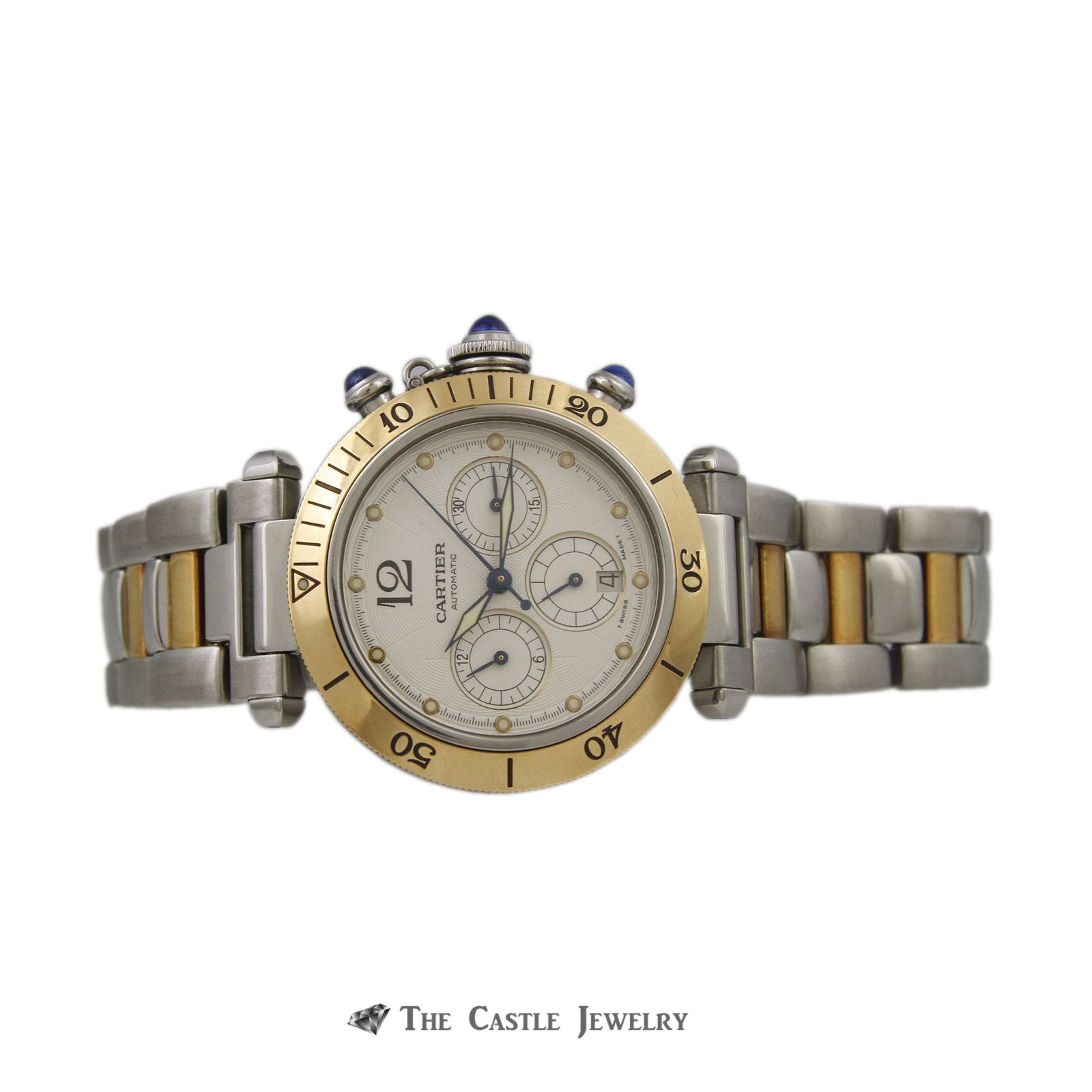 Cartier Pasha de Cartier Watch 18K & Steel 38mm Chronograph Ref. 2113-4