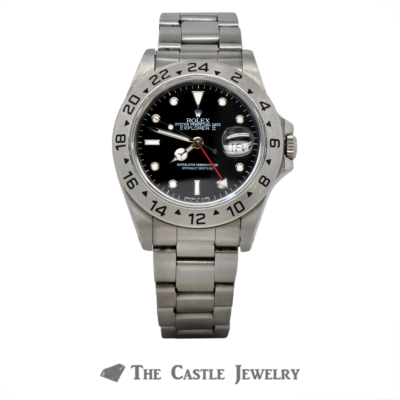 Men's Stainless Steel Rolex Explorer II with Black Dial & Oyster Bracelet