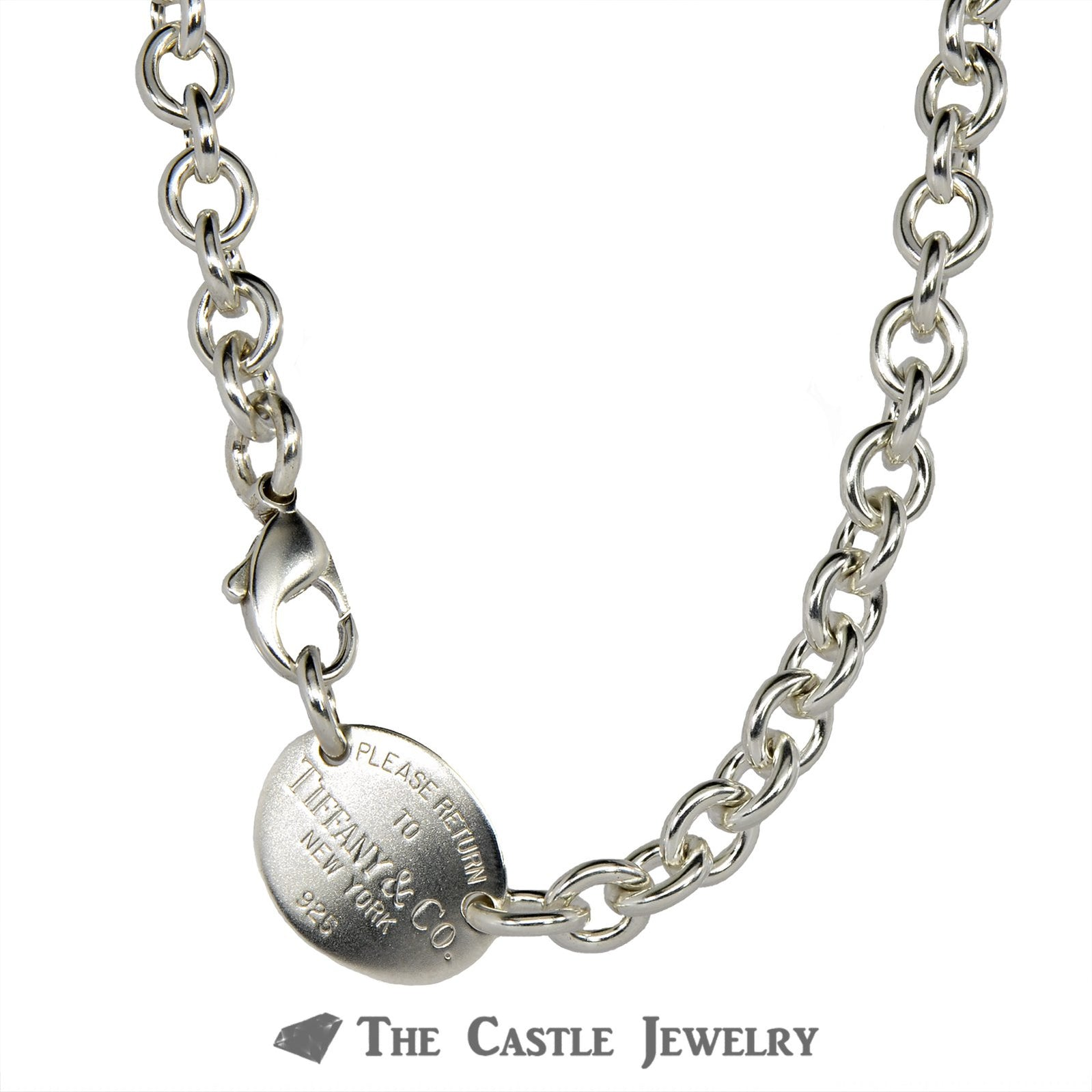 Tiffany & Co. Jewelry – Oval Return to Tiffany Cable Necklace in Sterling Silver