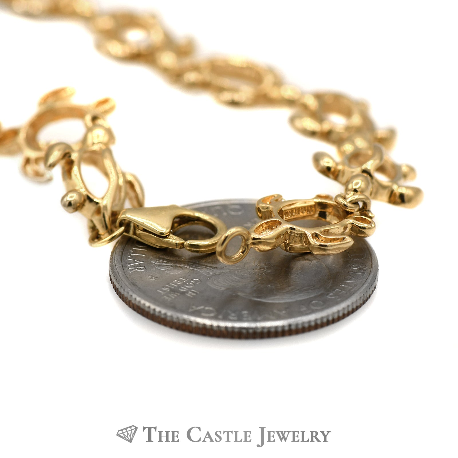 7 Inch Turtle Link Bracelet in 14k Yellow Gold-1
