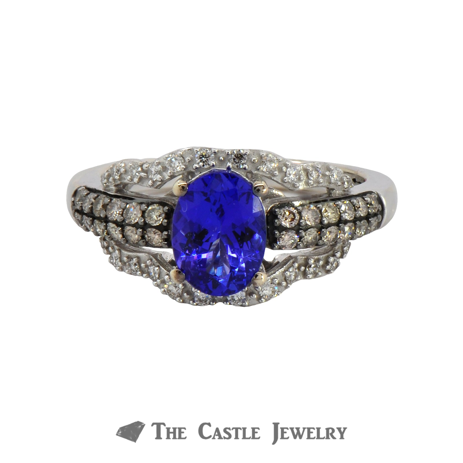 LeVian Tanzanite and Diamond Ring in 10K White Gold