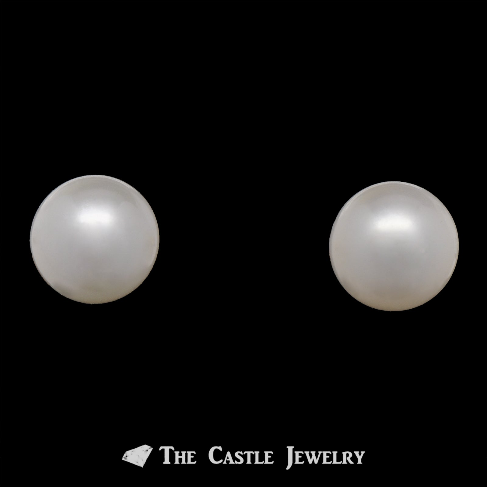 7-7.5mm Pearl Stud Earrings in 14K Gold