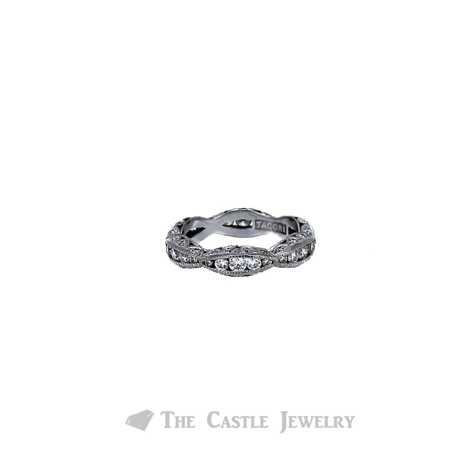 Tacori Crescent Wave Design Band .87cttw in 18K White Gold