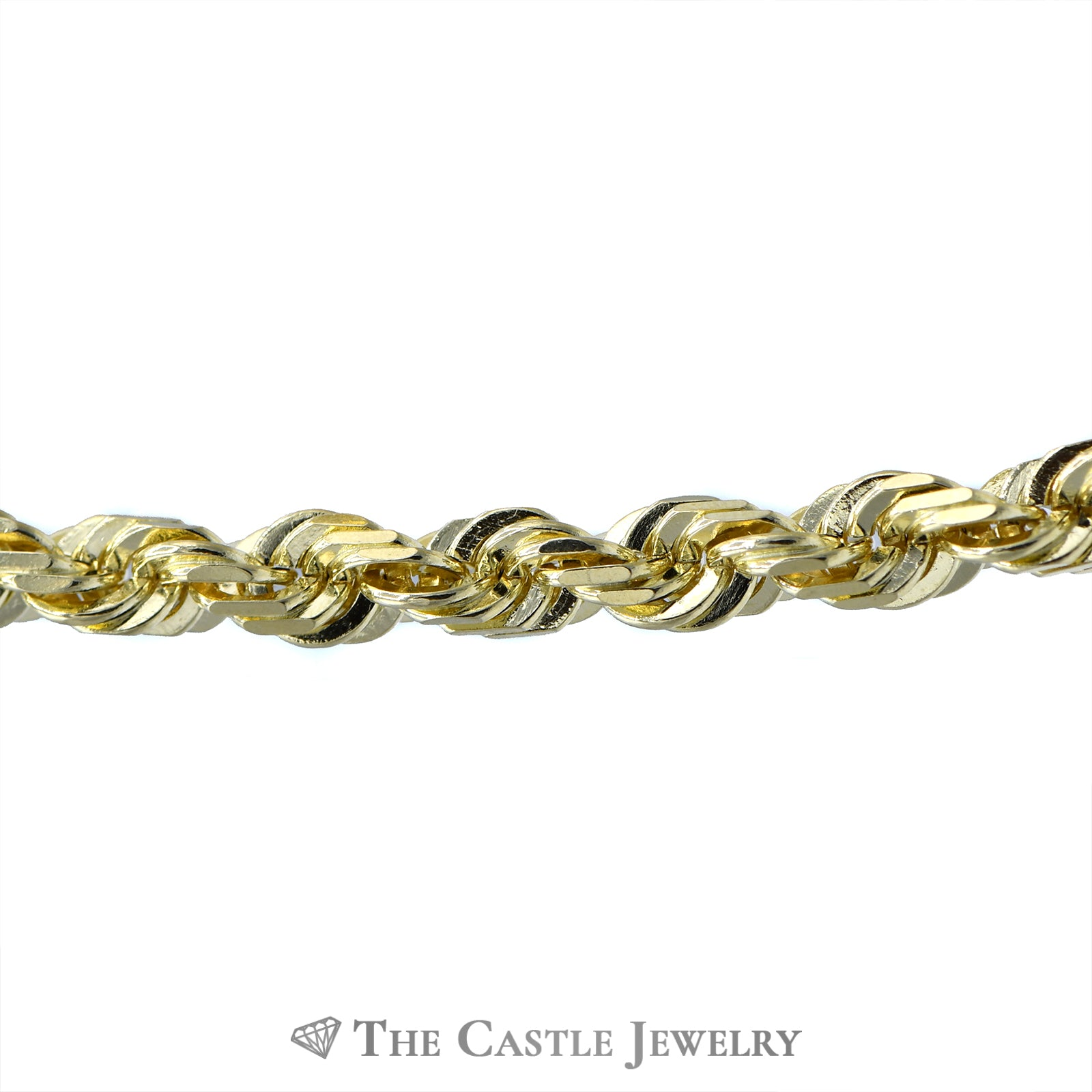 24 Inch Rope Chain with Lobster Clasp in 10k Yellow Gold-1
