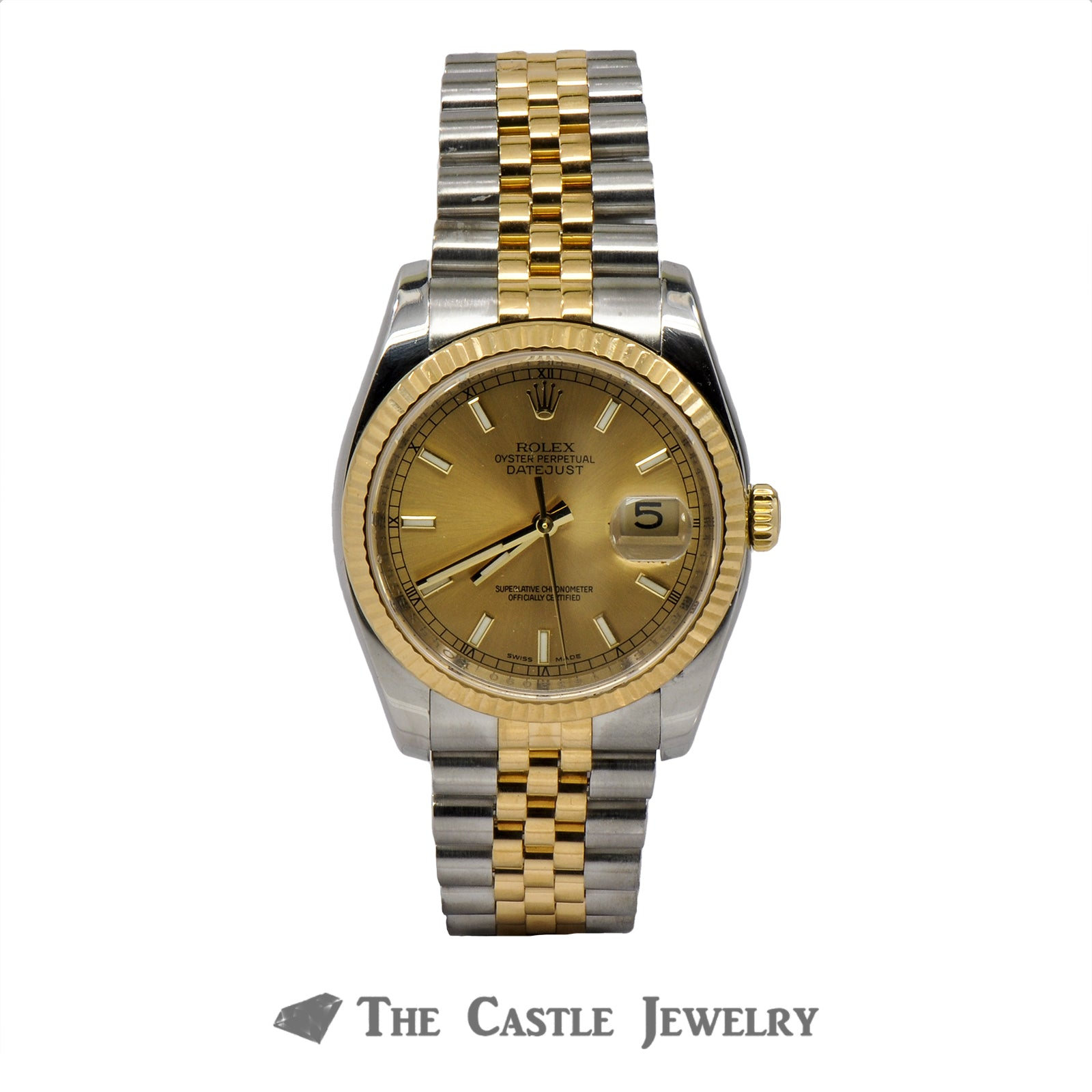 Rolex Datejust 116233 With Champagne Dial and Fluted Bezel