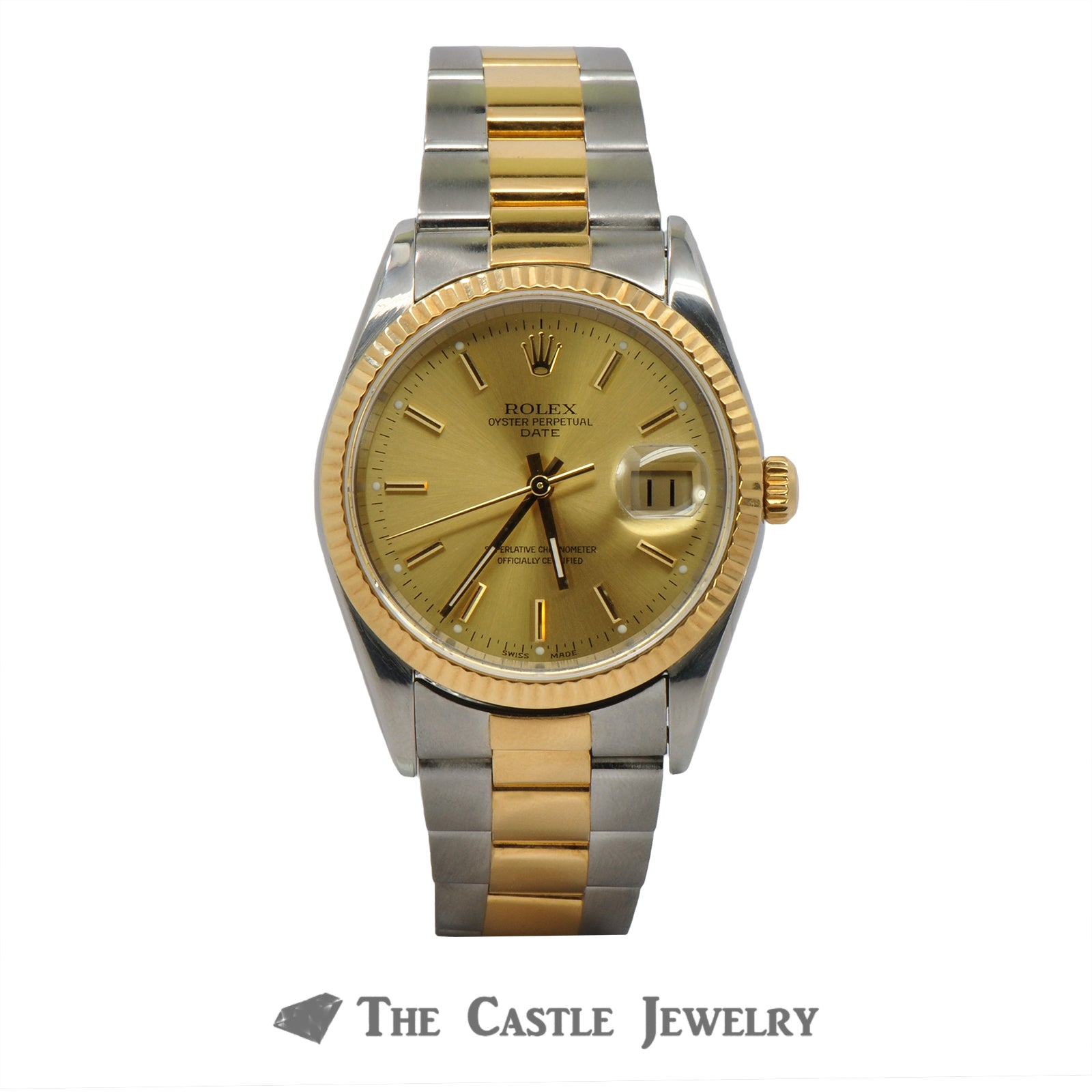 Rolex Date Model 15203 | 18K & Steel Oyster Bracelet | 2 Year Warranty