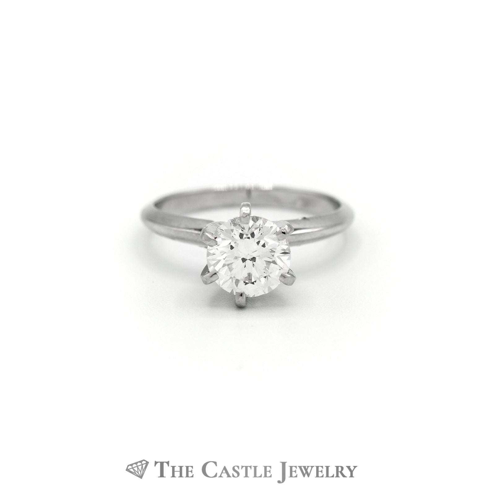1.54ct Diamond Solitaire Engagement Ring 14K White Gold