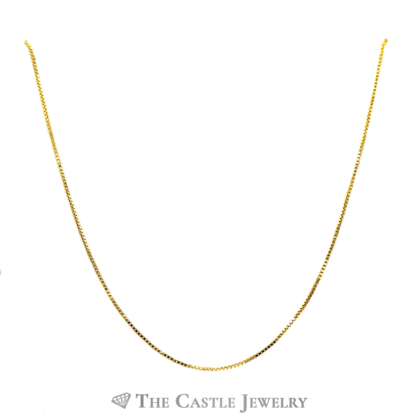 10k Yellow Gold 16 Inch Box Link Chain