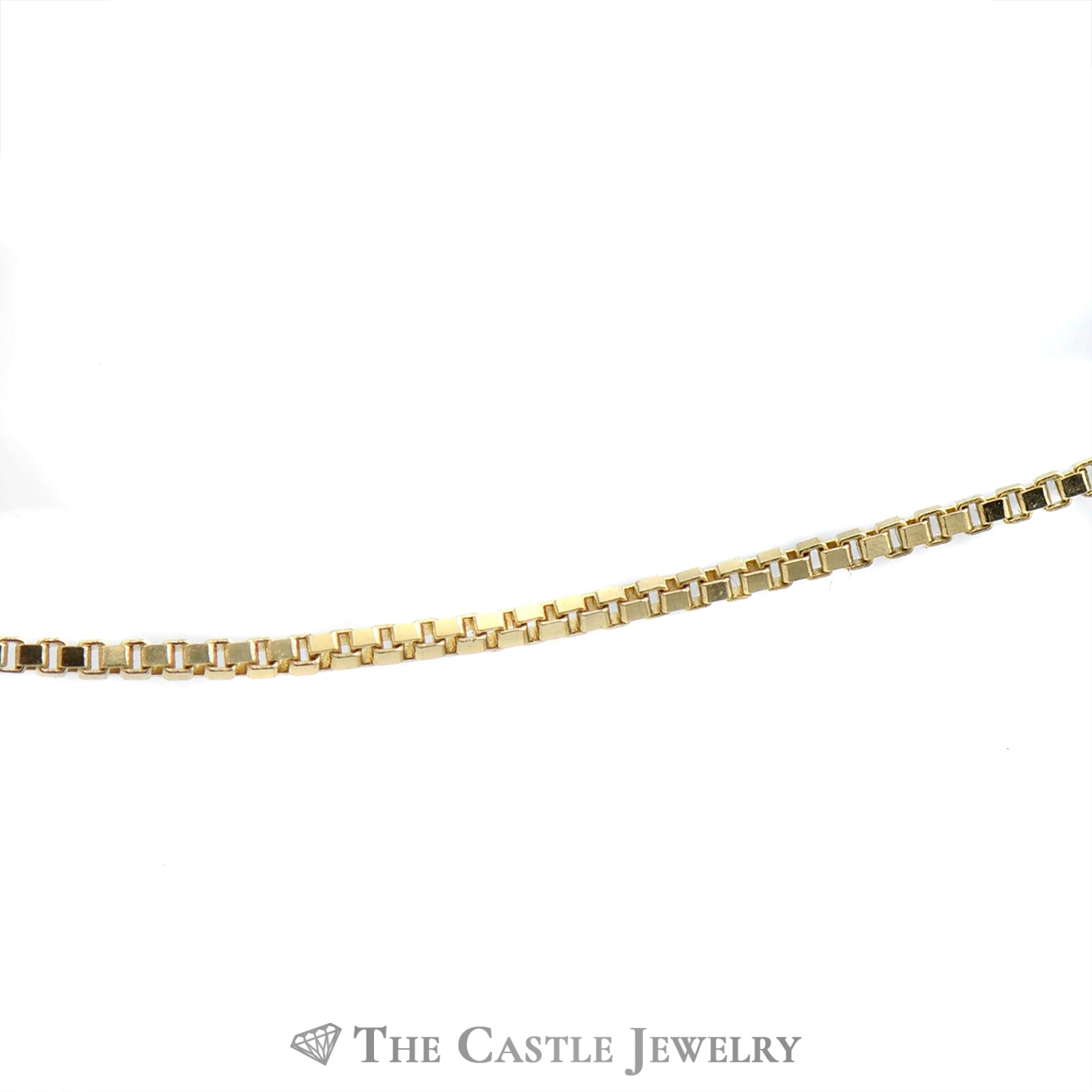 10k Yellow Gold 16 Inch Box Link Chain-1