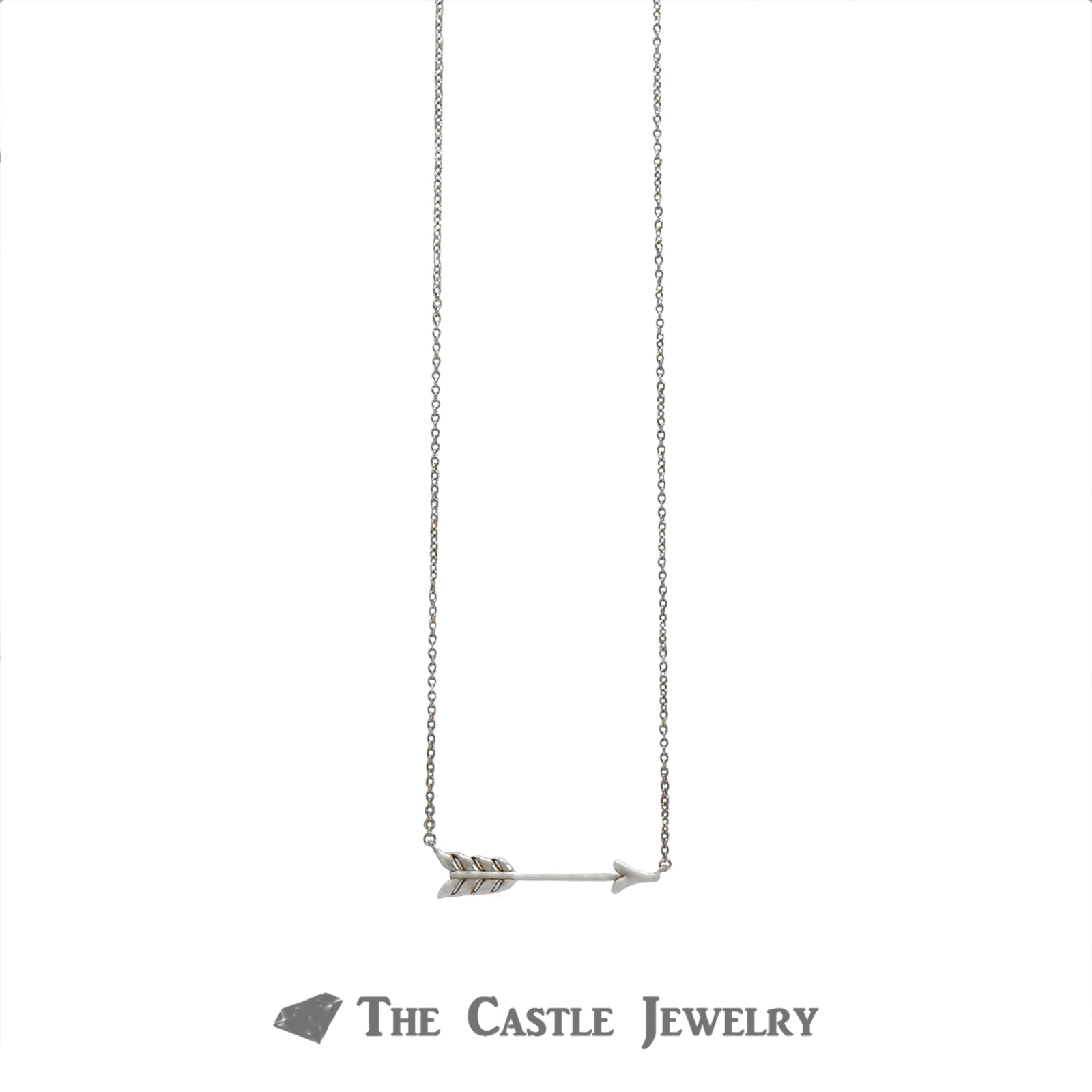 Tiffany & Co. Designer Necklace with Arrow Pendant Crafted in Sterling Silver