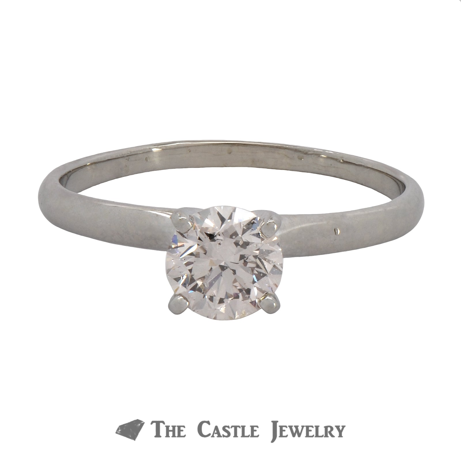 Lab Grown Certified Diamond Engagement Ring 1.00 Carat Round Brilliant Cut