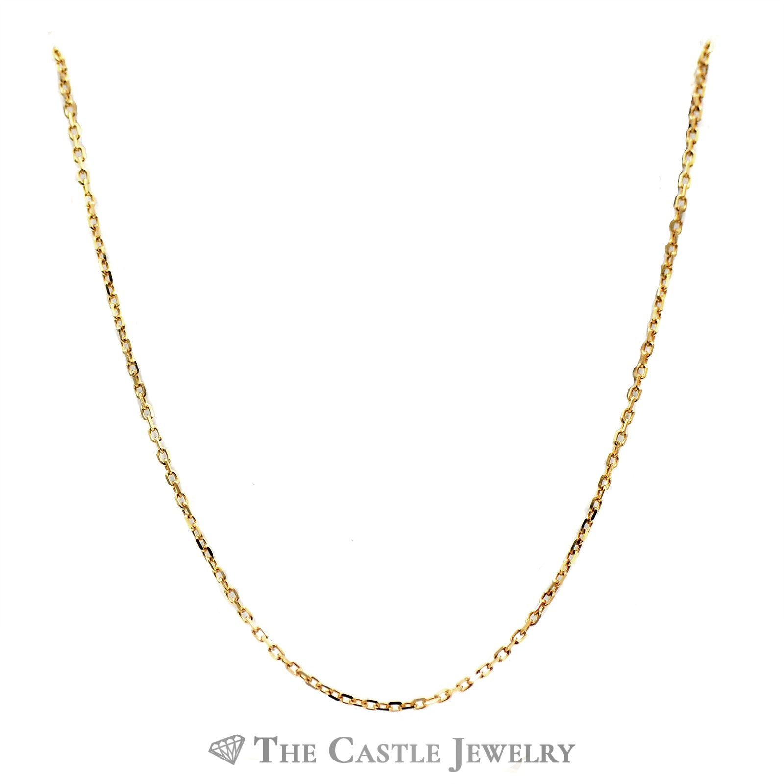 10k Yellow Gold 16 Inch Solid Cable Chain