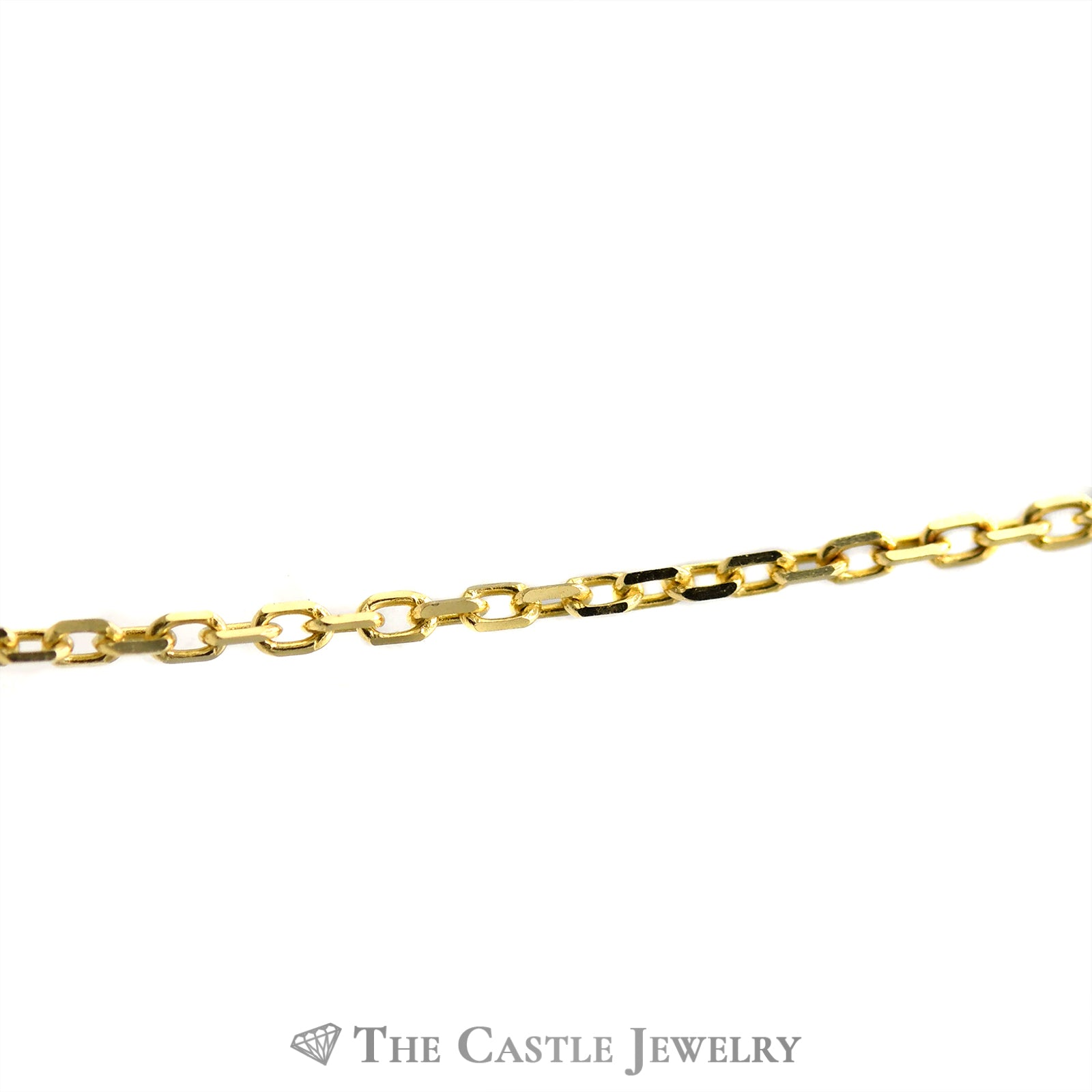 10k Yellow Gold 16 Inch Solid Cable Chain-1