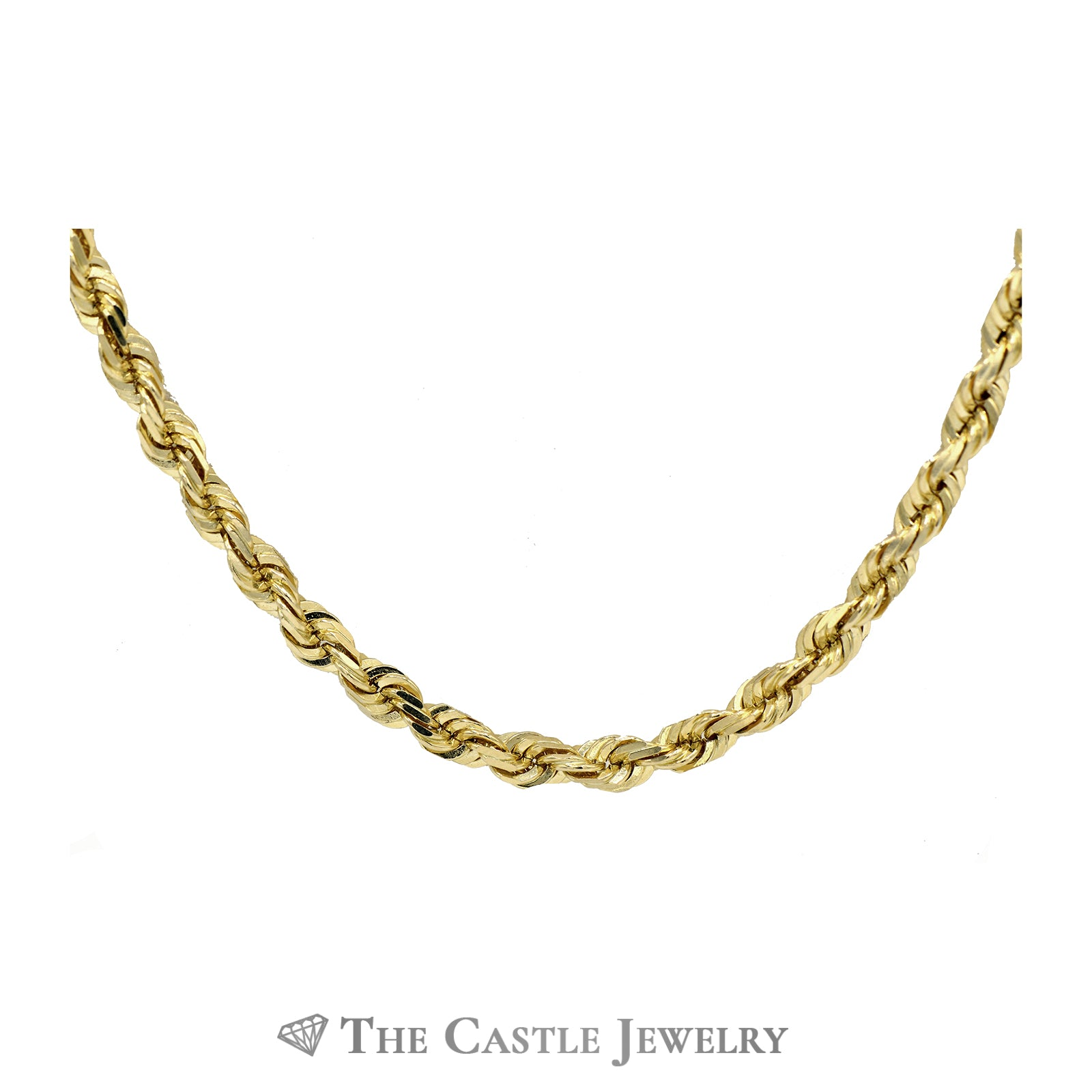 22 Inch 10k Yellow Gold Rope Chain-1
