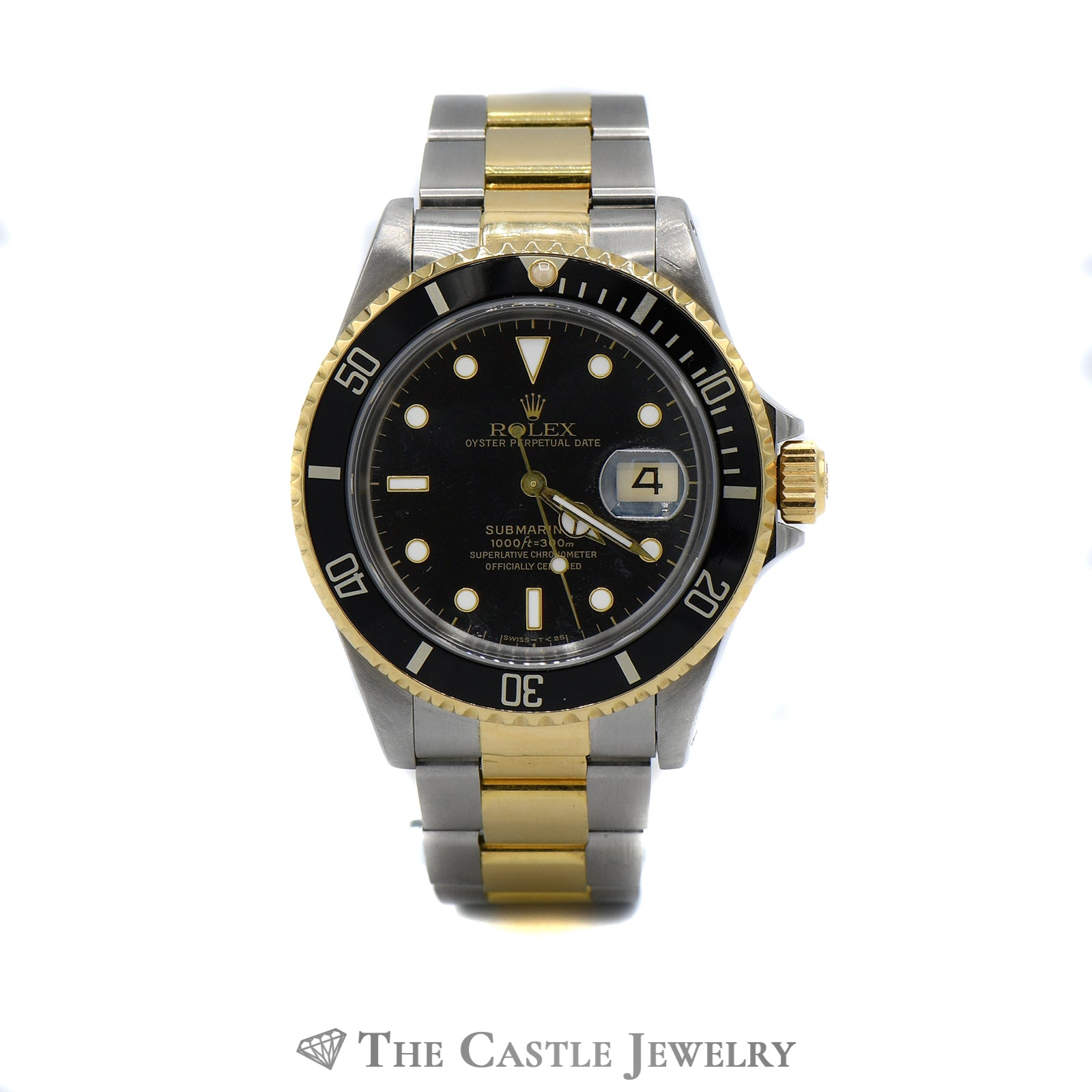 Rolex Submariner Black on Black with 18K & Stainless Bracelet