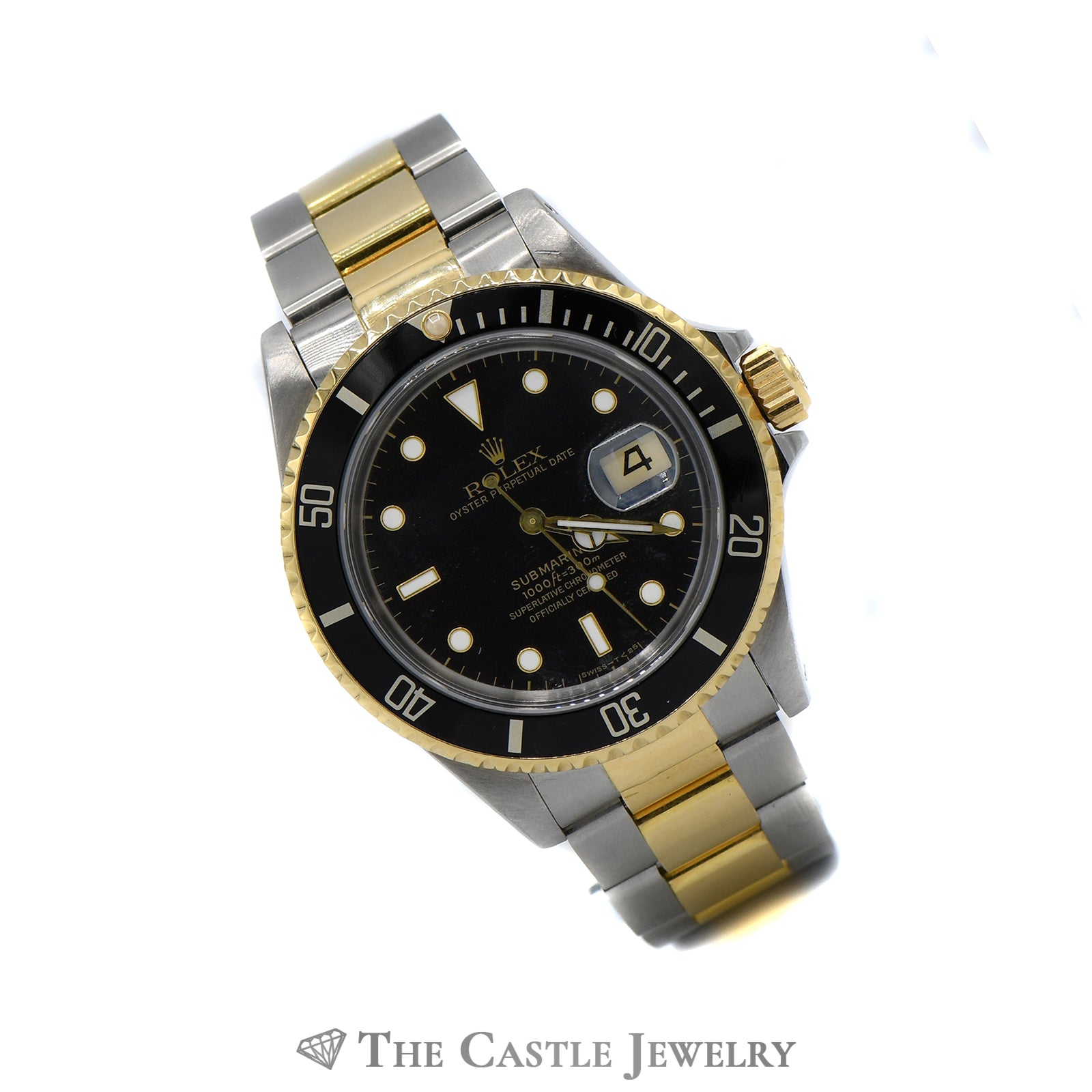 Rolex Submariner Black on Black with 18K & Stainless Bracelet-2