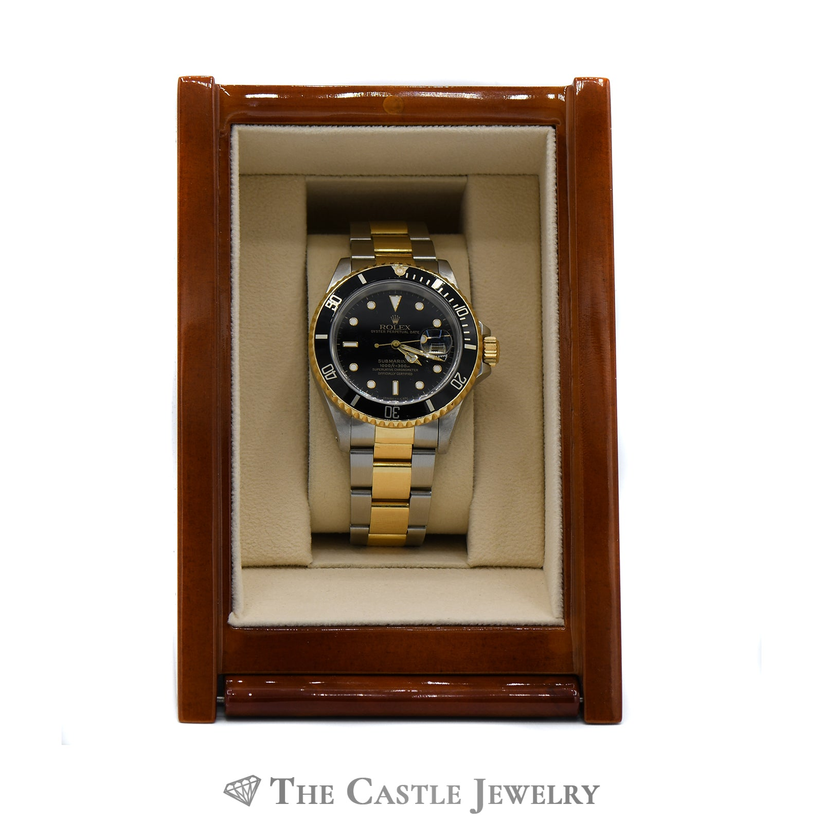 Rolex Submariner Black on Black with 18K & Stainless Bracelet-8