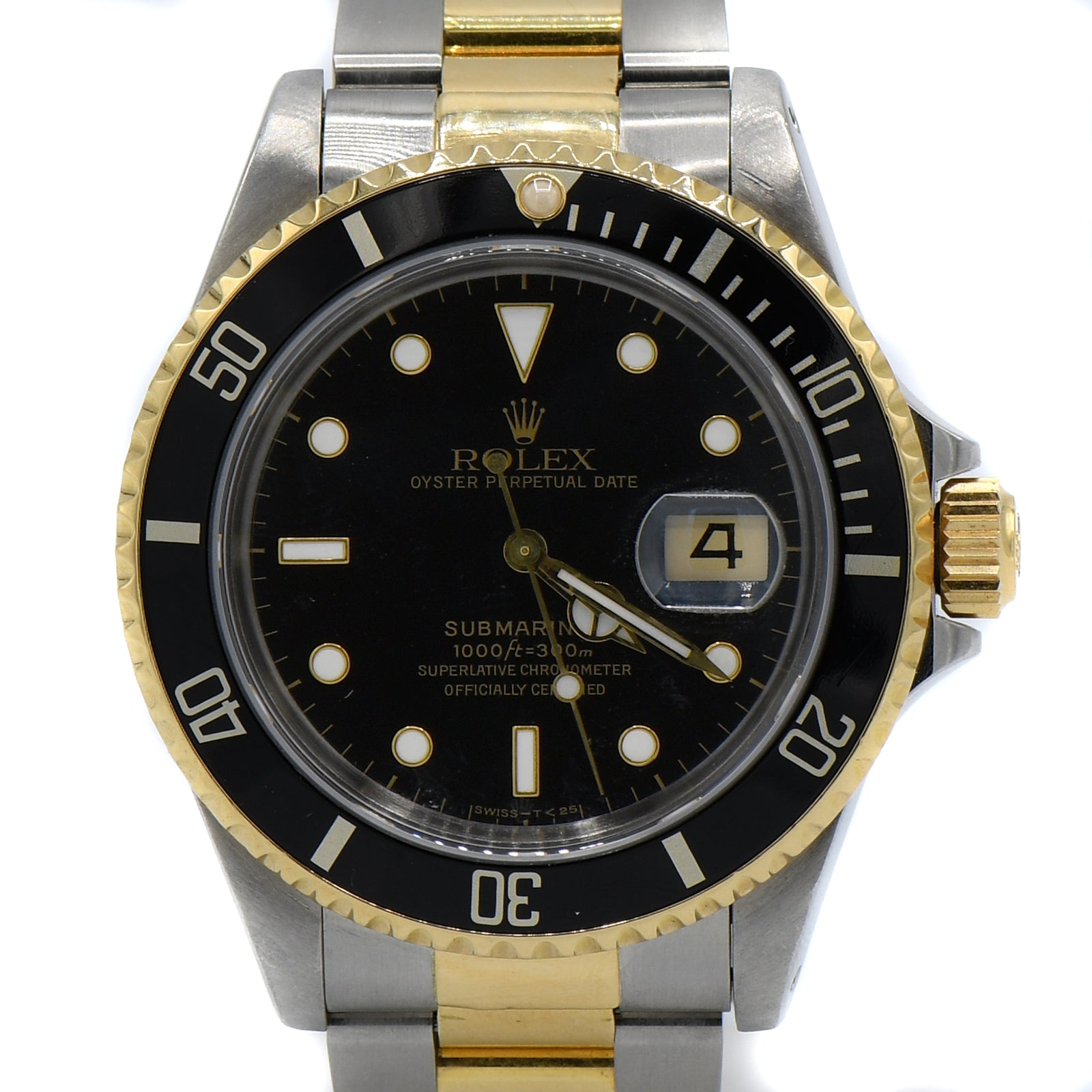 Rolex Submariner Black on Black with 18K & Stainless Bracelet-4