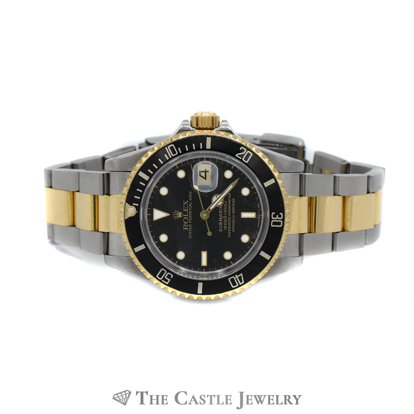 Rolex Submariner Black on Black with 18K & Stainless Bracelet-5