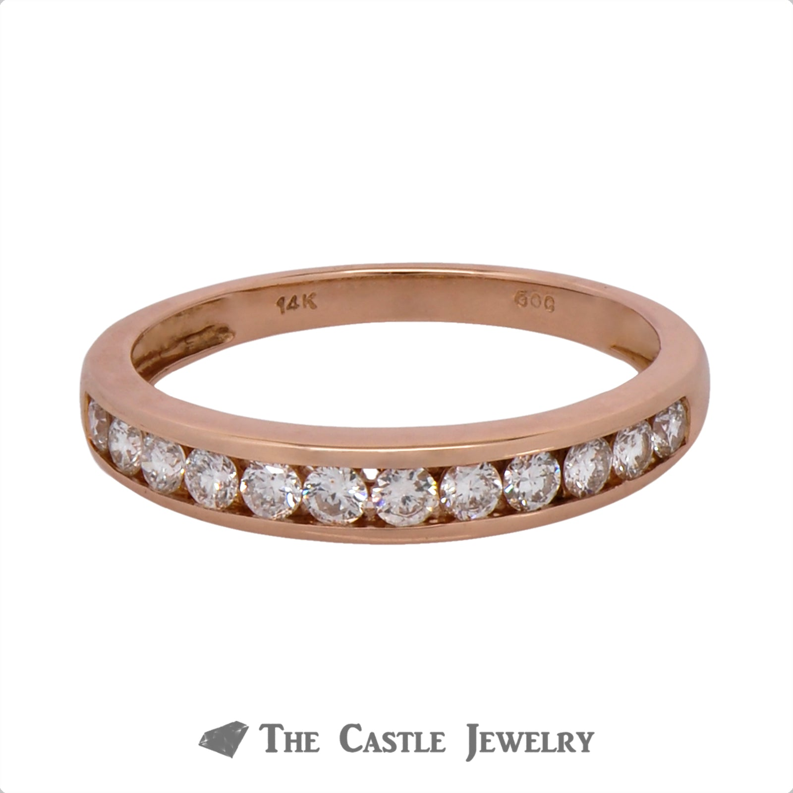 .38cttw Channel Set Diamond Band in 14k Rose Gold