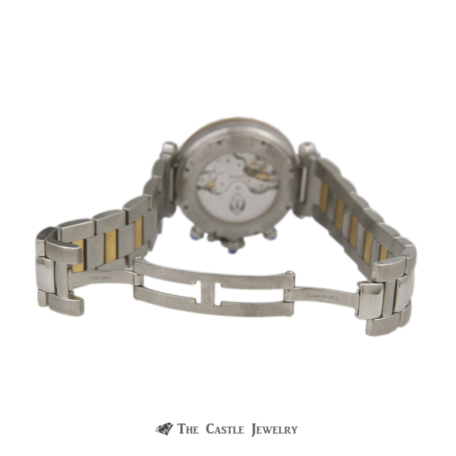 Cartier Pasha de Cartier Watch 18K & Steel 38mm Chronograph Ref. 2113-6