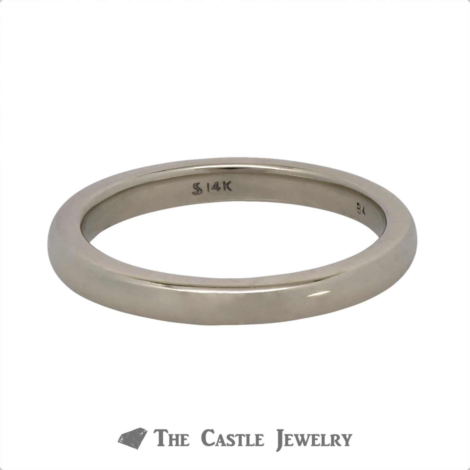 Polished 2.25mm Wedding Band Crafted in 14k White Gold