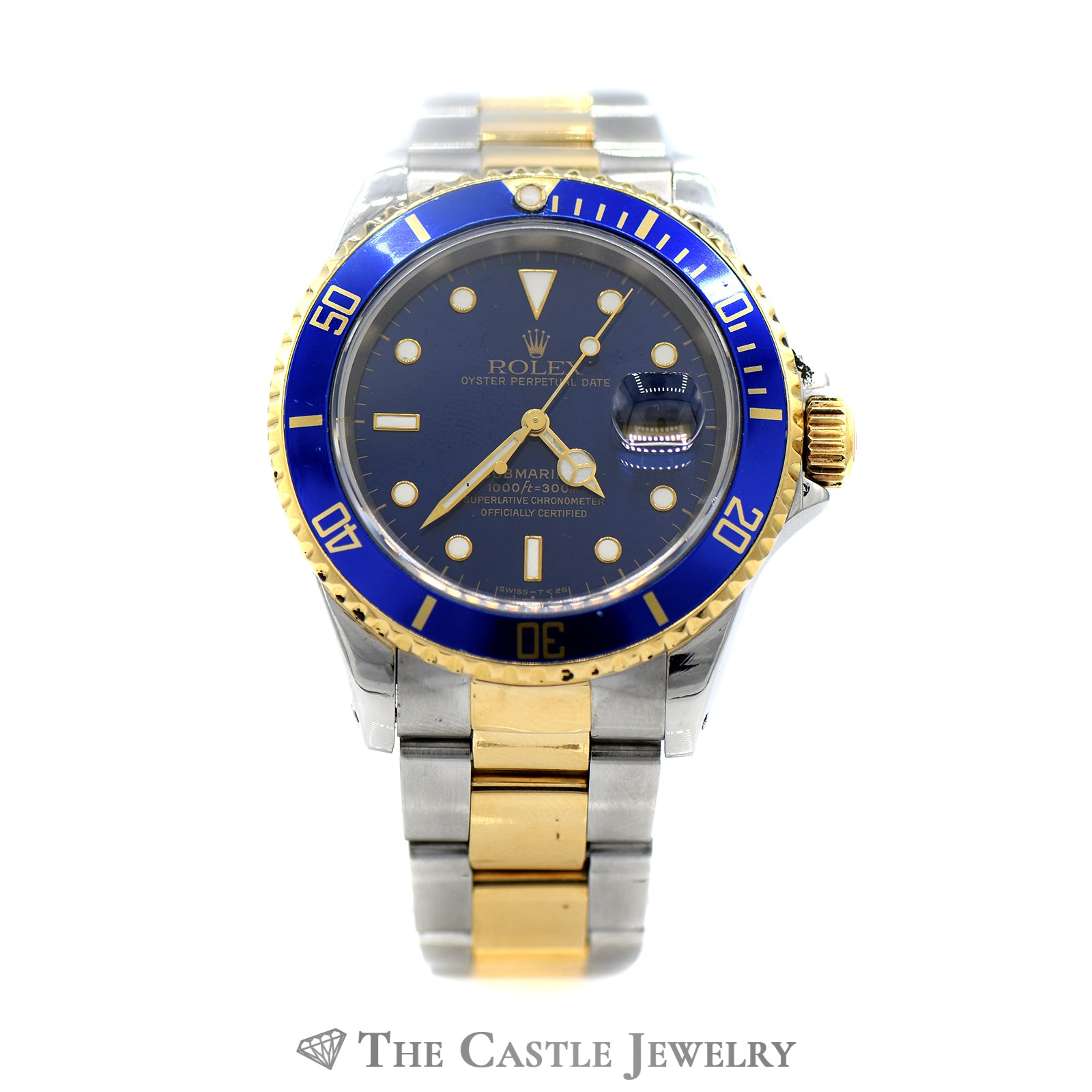 Rolex Submariner Blue on Blue with Two-toned Oyster Bracelet