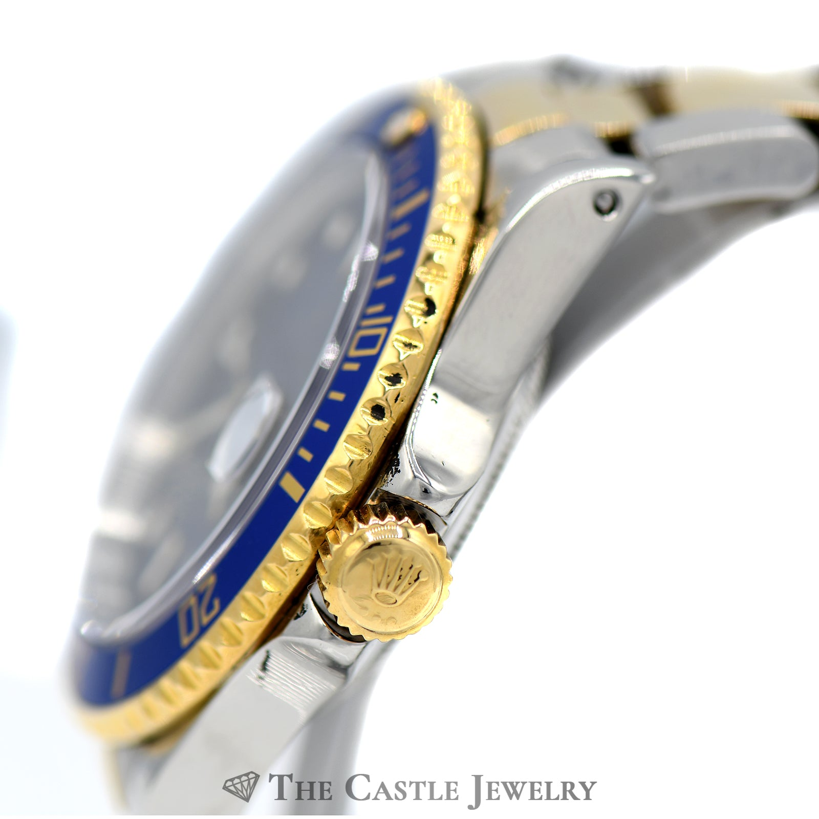 Rolex Submariner Blue on Blue with Two-toned Oyster Bracelet-3