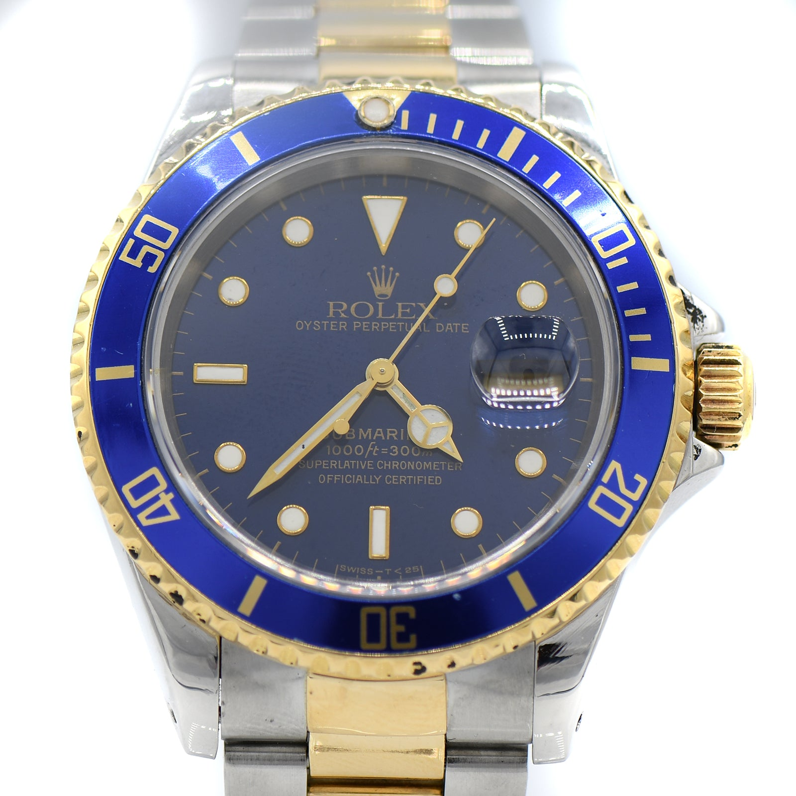 Rolex Submariner Blue on Blue with Two-toned Oyster Bracelet-2