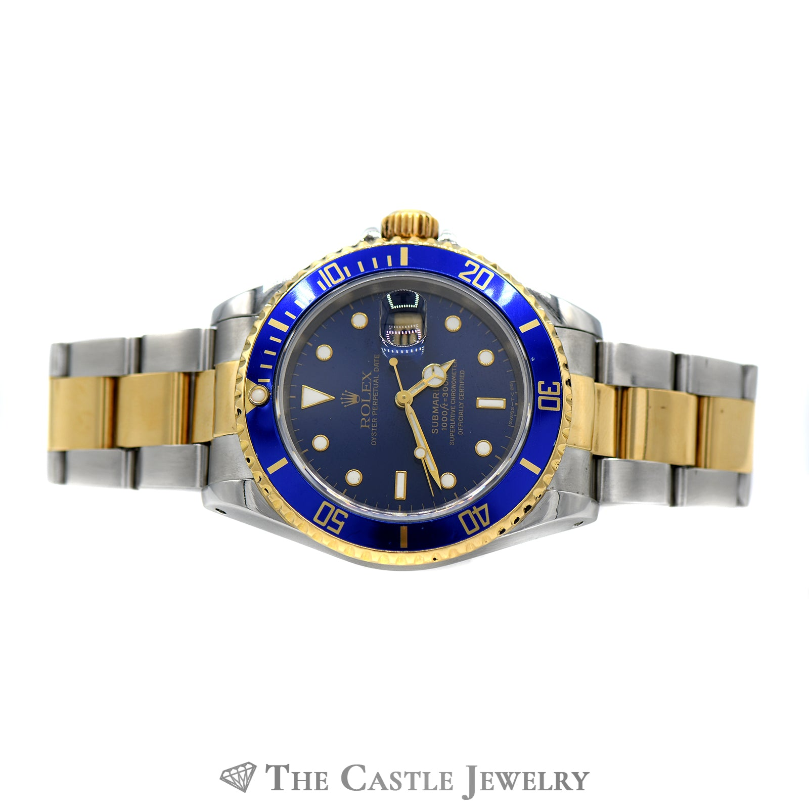 Rolex Submariner Blue on Blue with Two-toned Oyster Bracelet-5