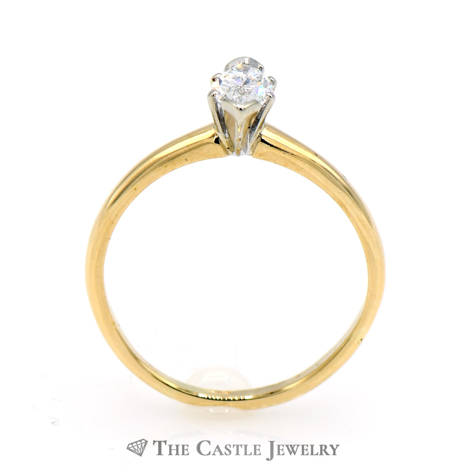 Marquise Cut .45 Carat Solitaire Engagement Ring in 14k Yellow Gold-1