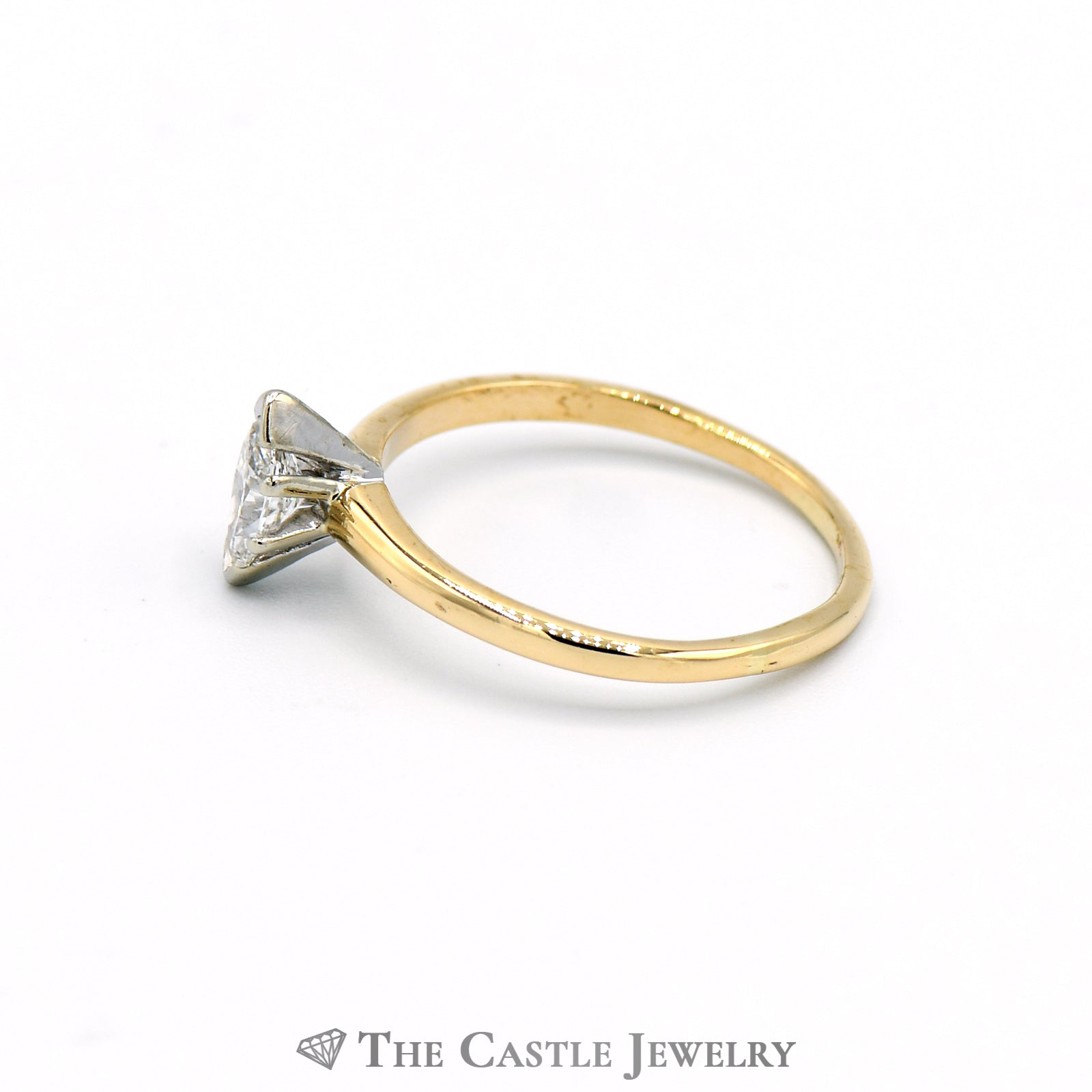 Marquise Cut .45 Carat Solitaire Engagement Ring in 14k Yellow Gold-2
