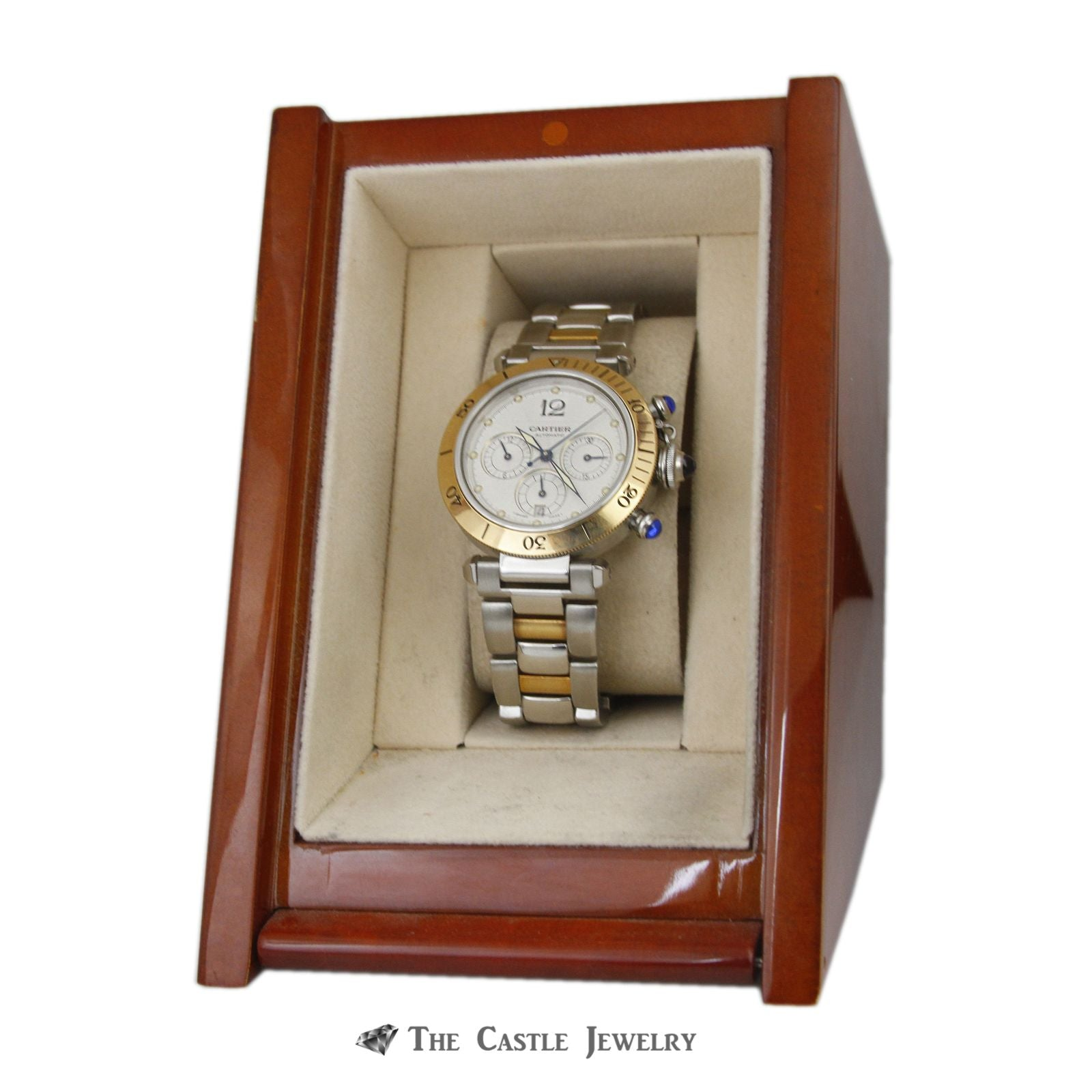Cartier Pasha de Cartier Watch 18K & Steel 38mm Chronograph Ref. 2113-7