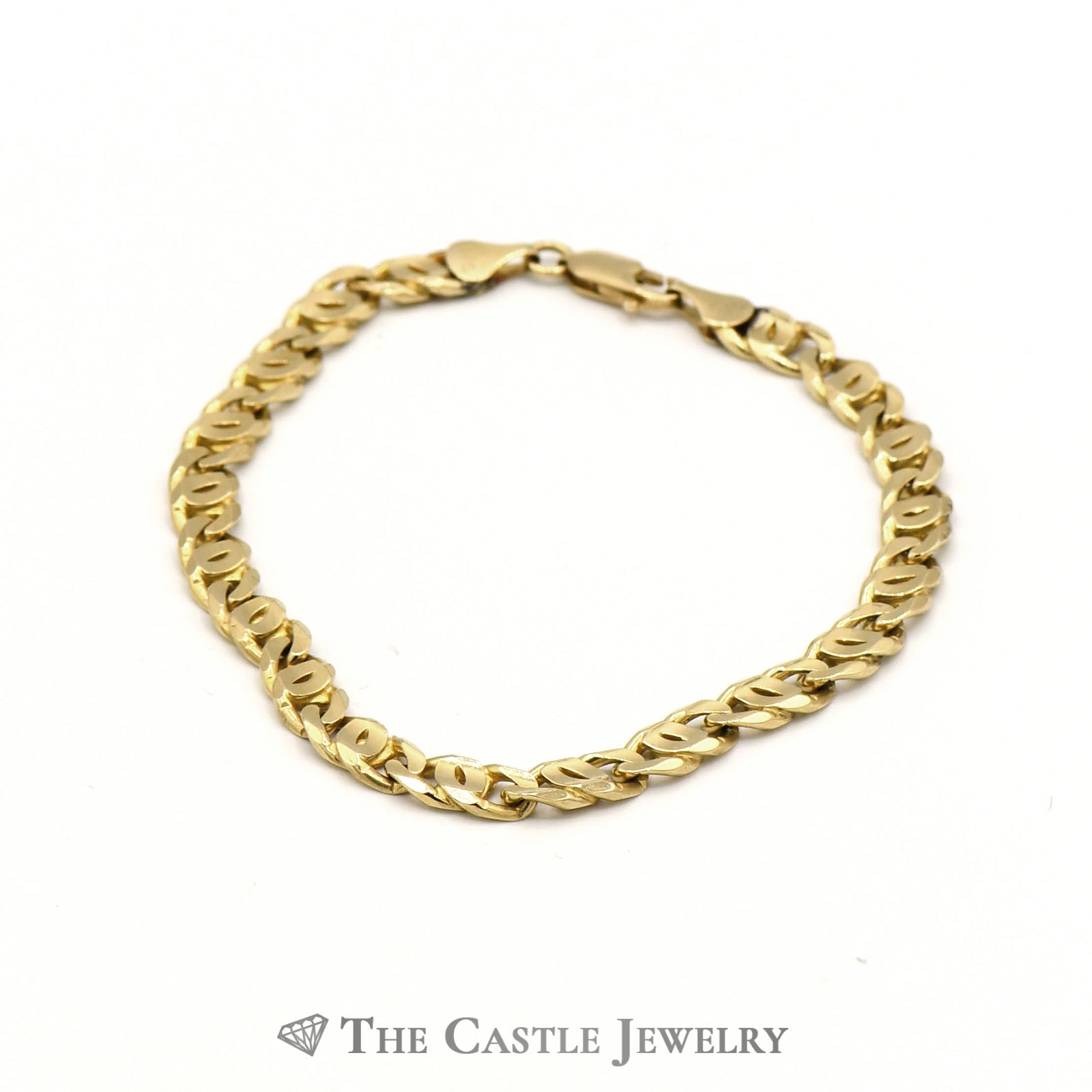 14k Yellow Gold 9 1/2 inch Oval Link Bracelet-0