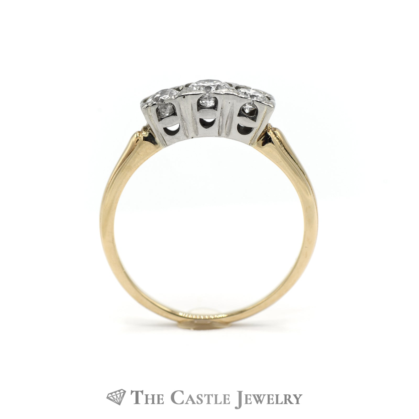 Past, Present, Future Diamond Ring .75CTTW 14KT Yellow Gold-1