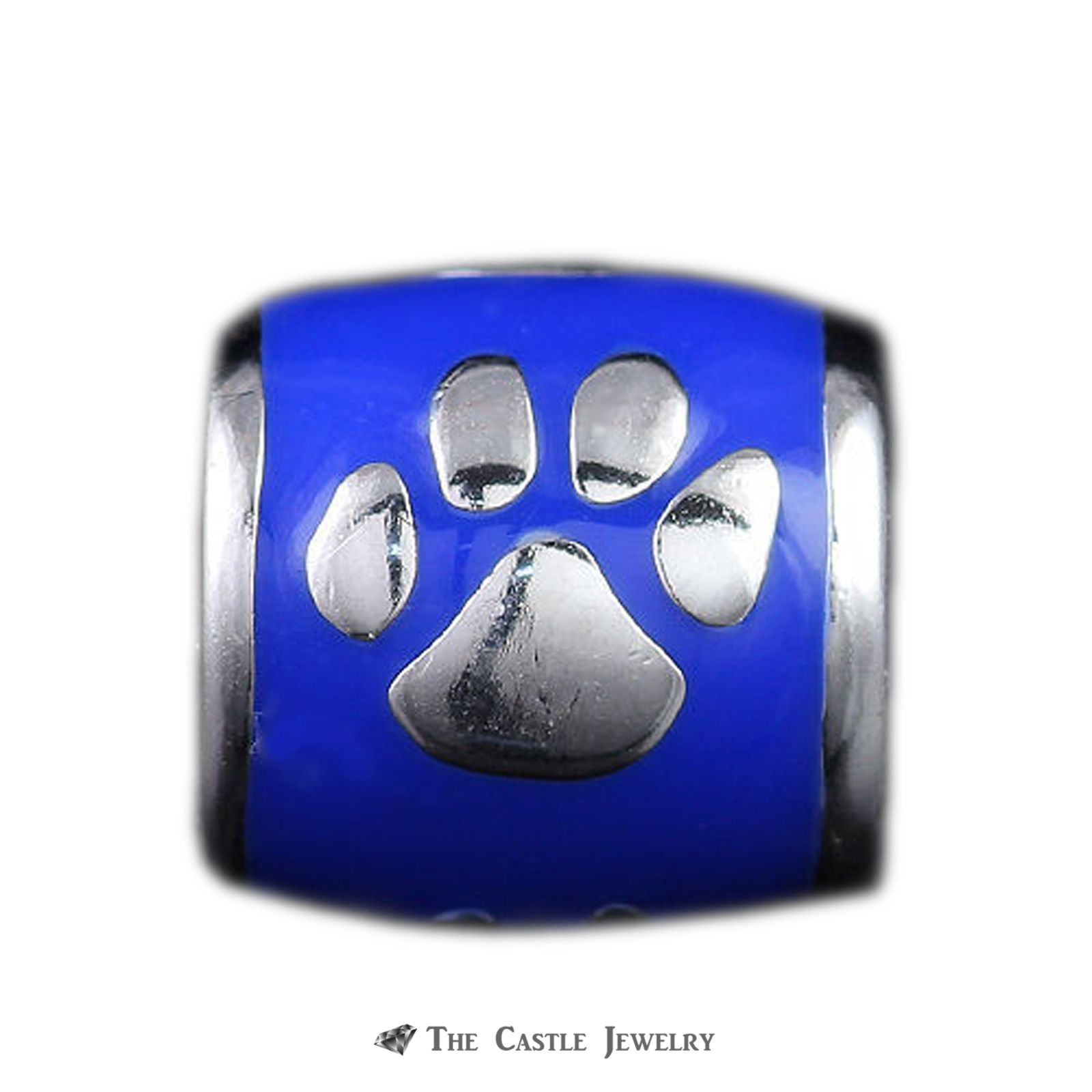 Collegiate University of Kentucky Wildcat Paw Barrel Bead