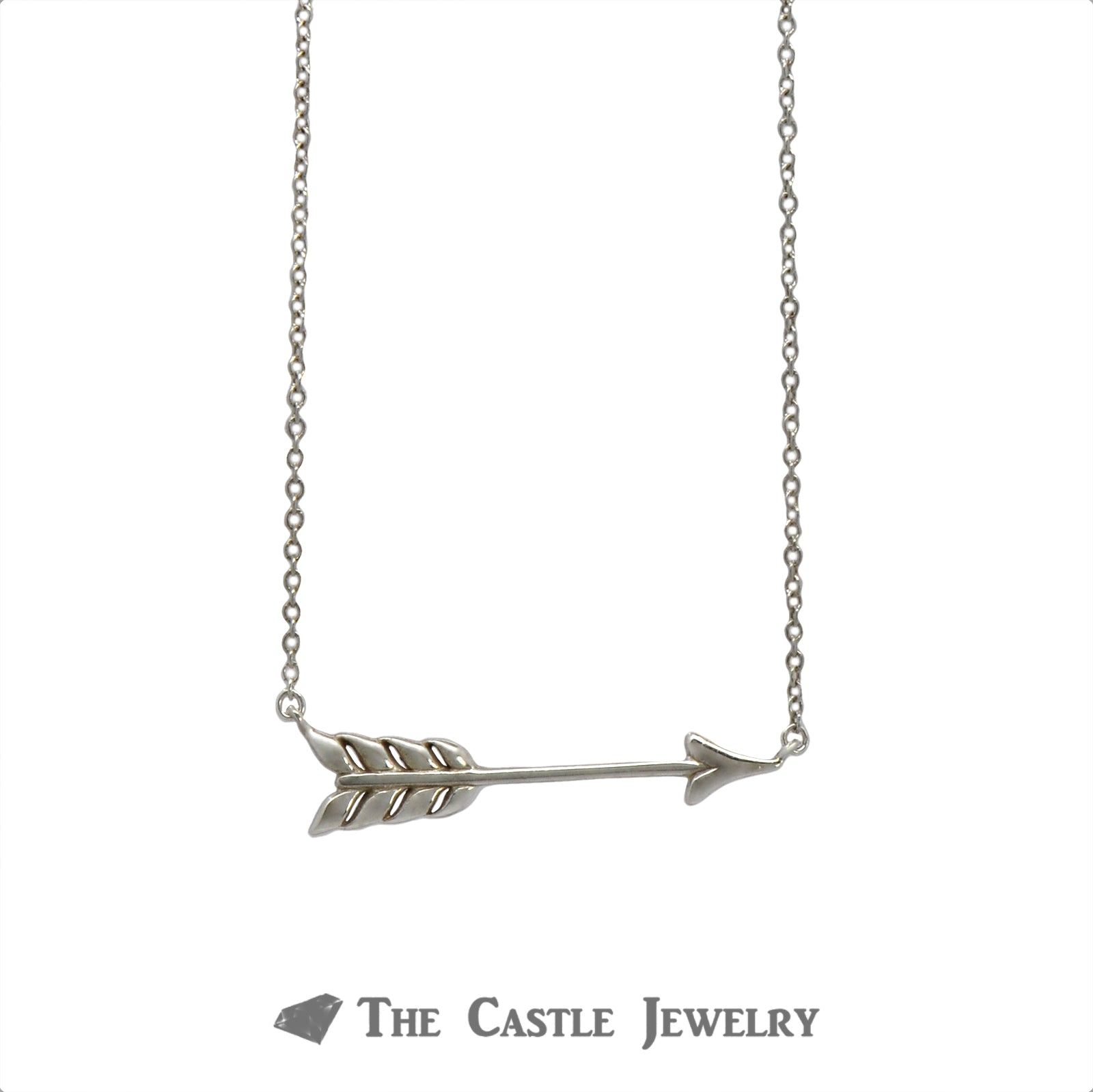 Tiffany & Co. Designer Necklace with Arrow Pendant Crafted in Sterling Silver-1